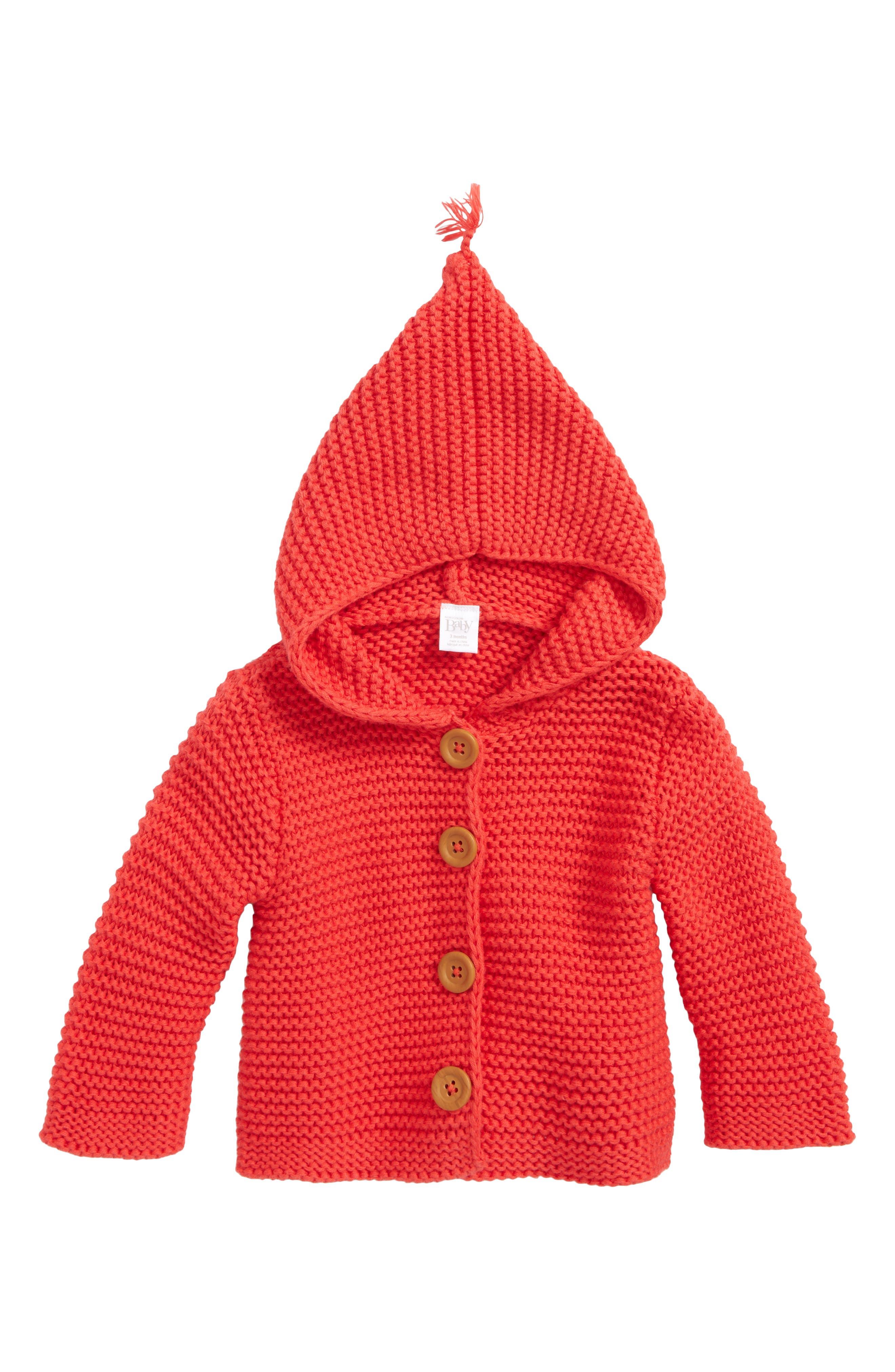 Main Image - Nordstrom Baby Lofty Organic Cotton Hooded Cardigan (Baby)