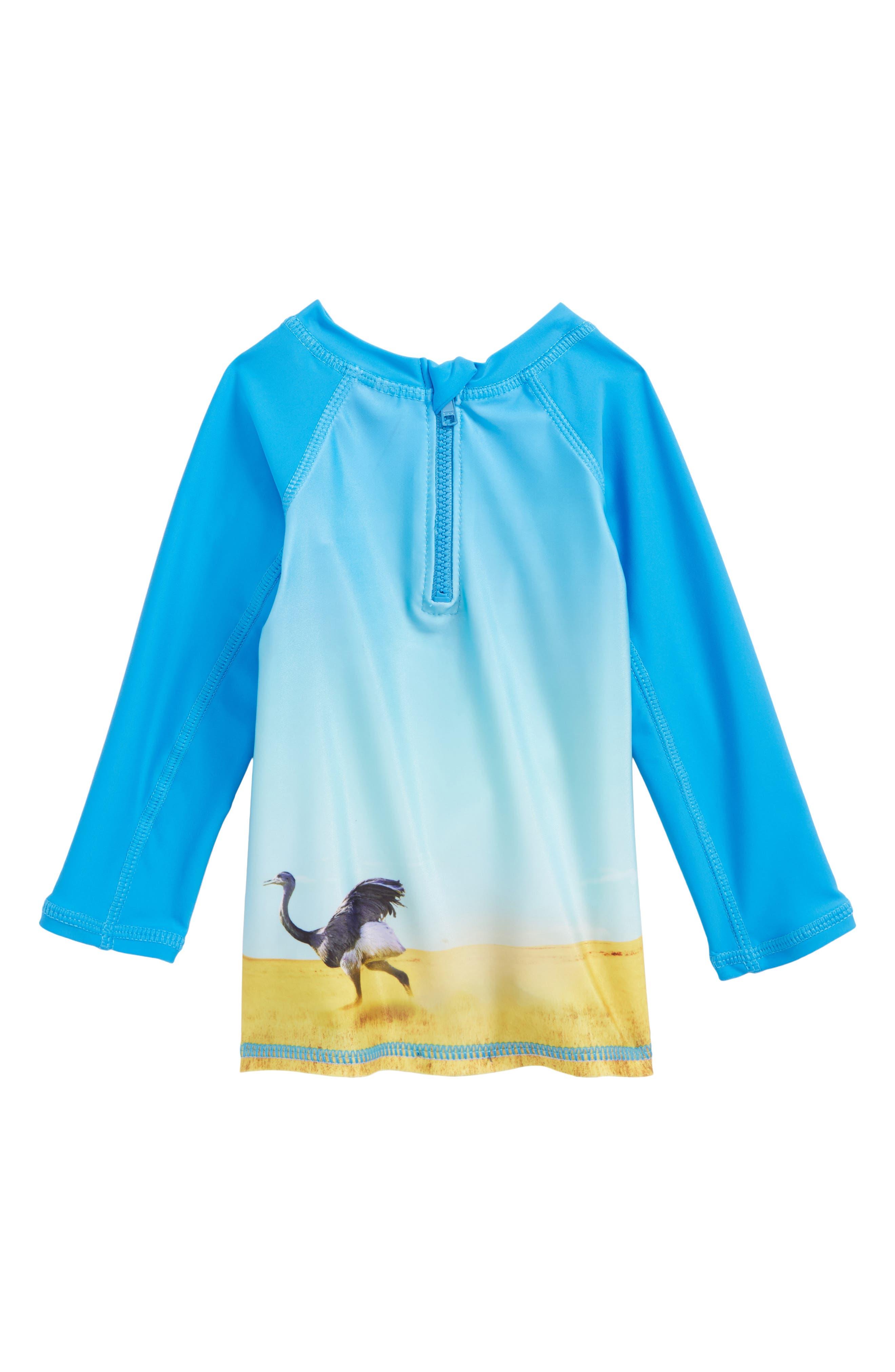 Alternate Image 2  - Molo Nemo Long Sleeve Rashguard Vest (Baby Boys)