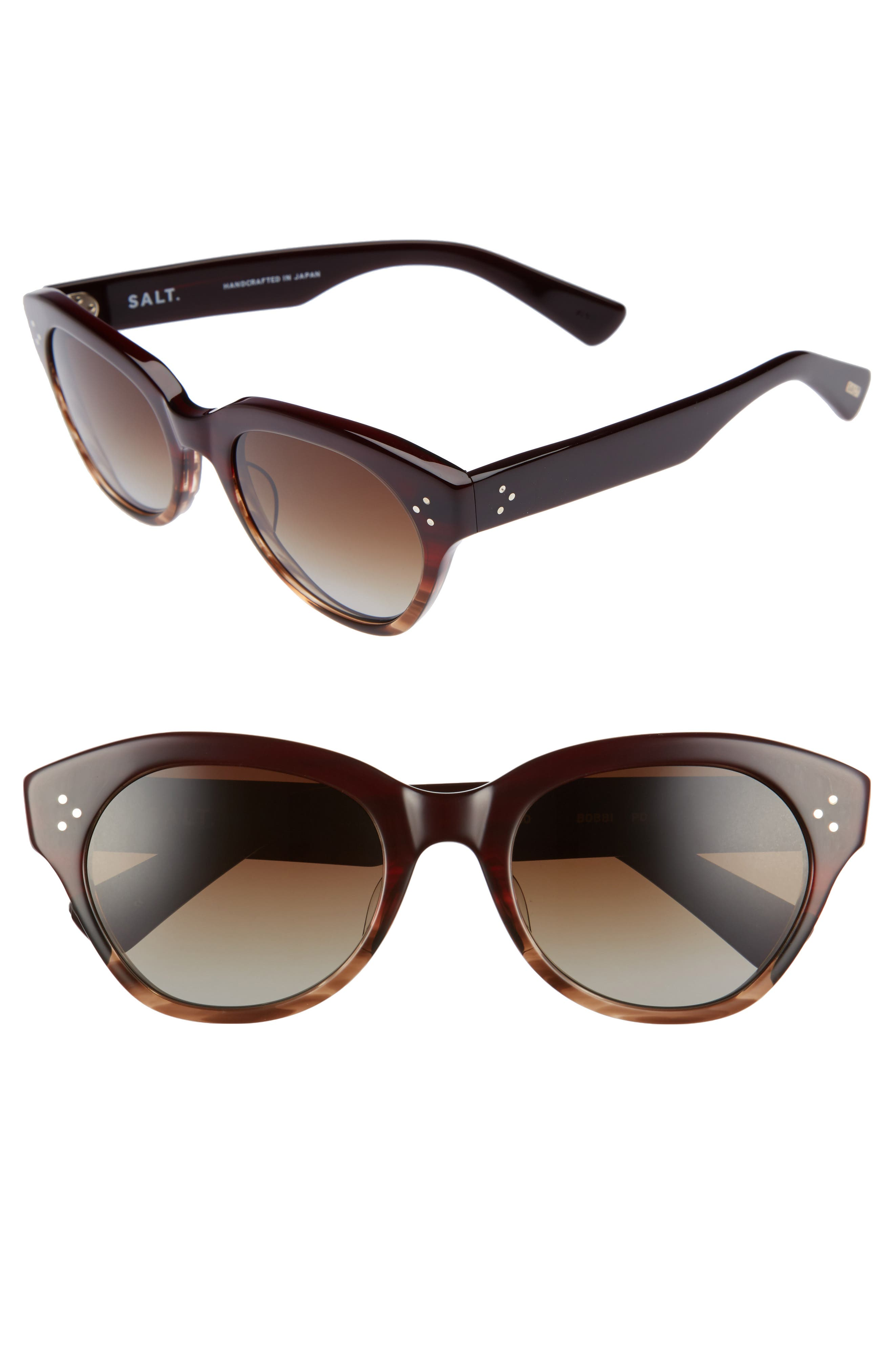 Bobbi 53mm Cat Eye Polarized Sunglasses,                         Main,                         color, Painted Desert