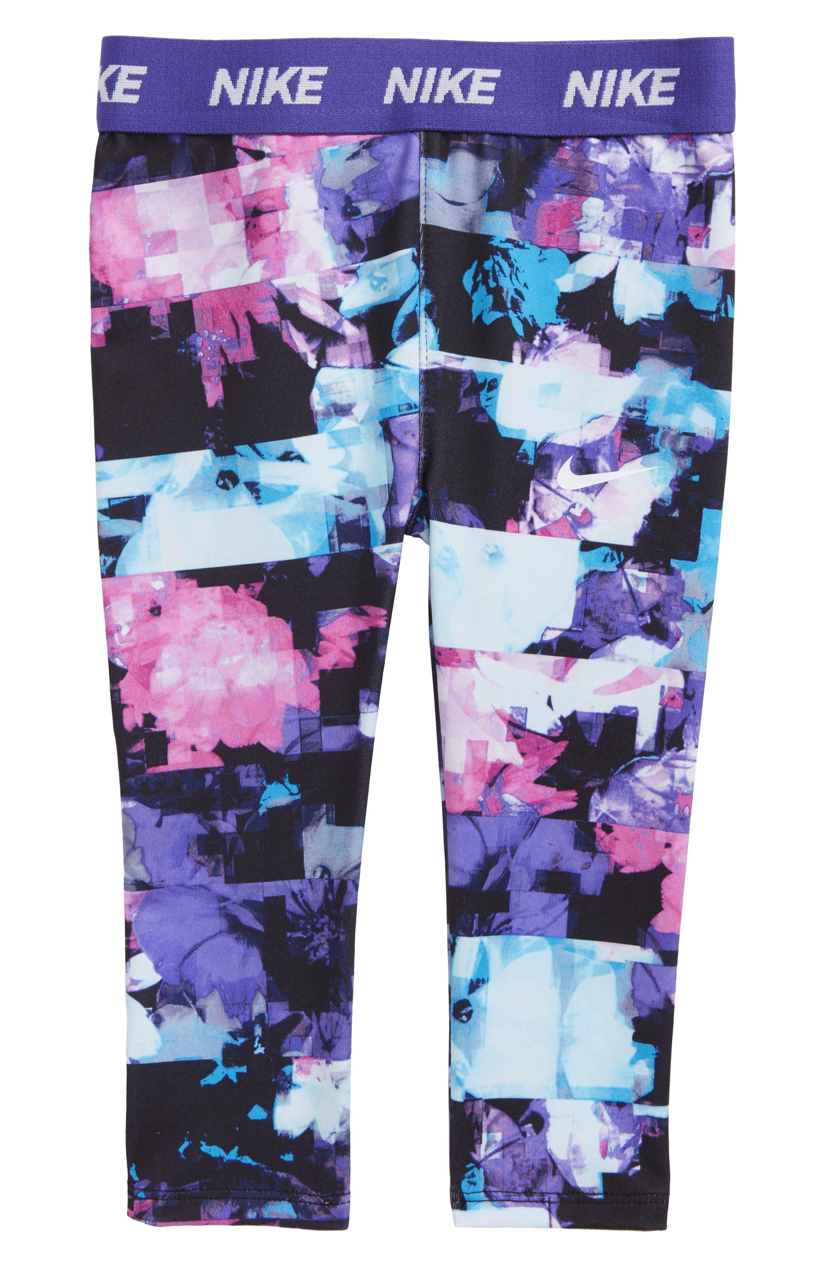 Dri-FIT Print Leggings,                             Main thumbnail 1, color,                             Purple Comet