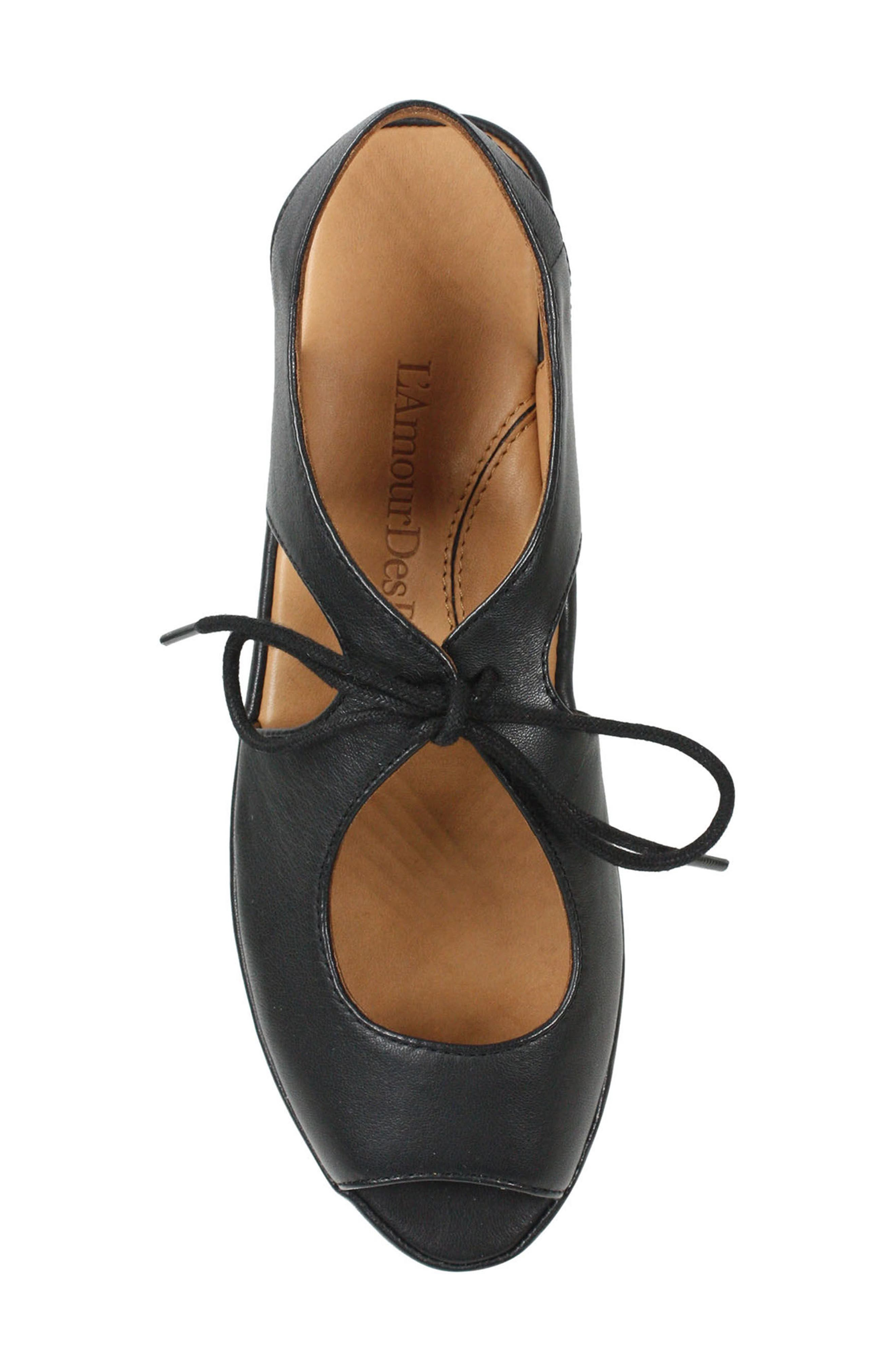 Brettany Sandal,                             Alternate thumbnail 5, color,                             Black Leather