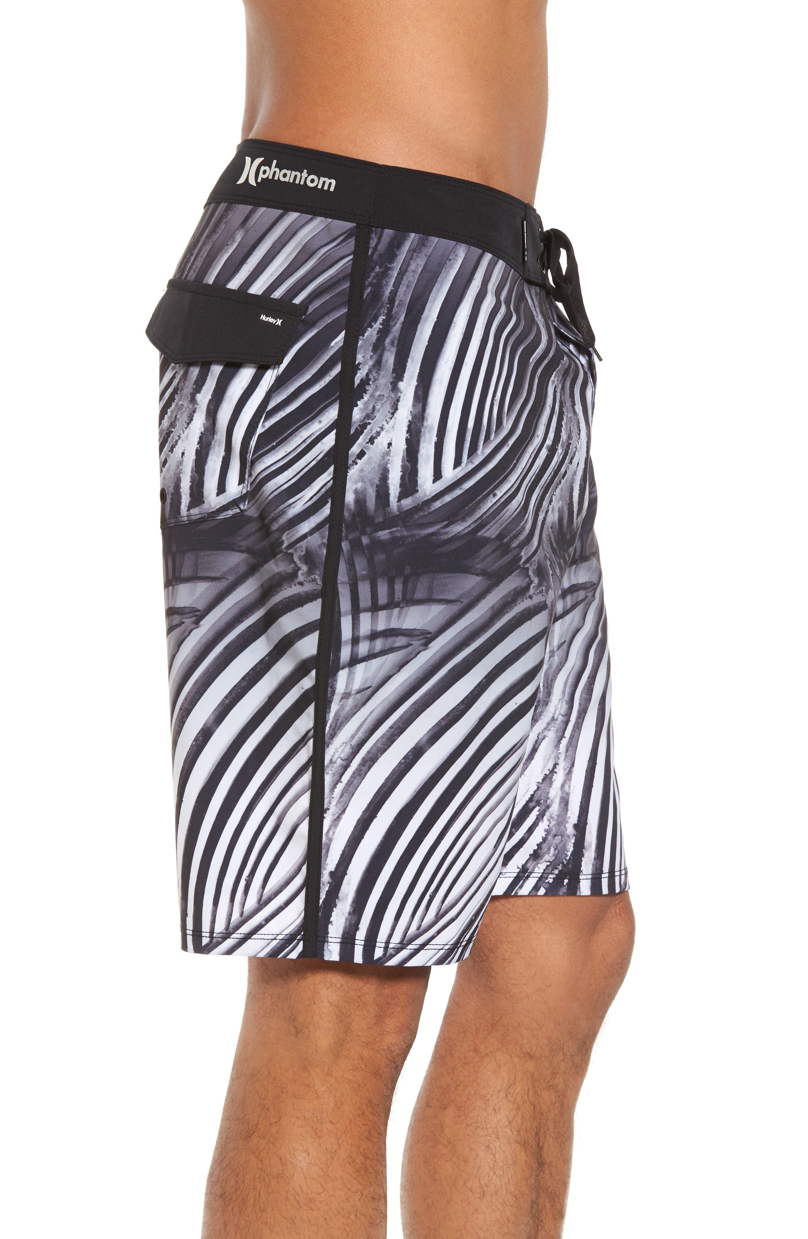 Phantom Crest Board Shorts,                             Alternate thumbnail 3, color,                             Black