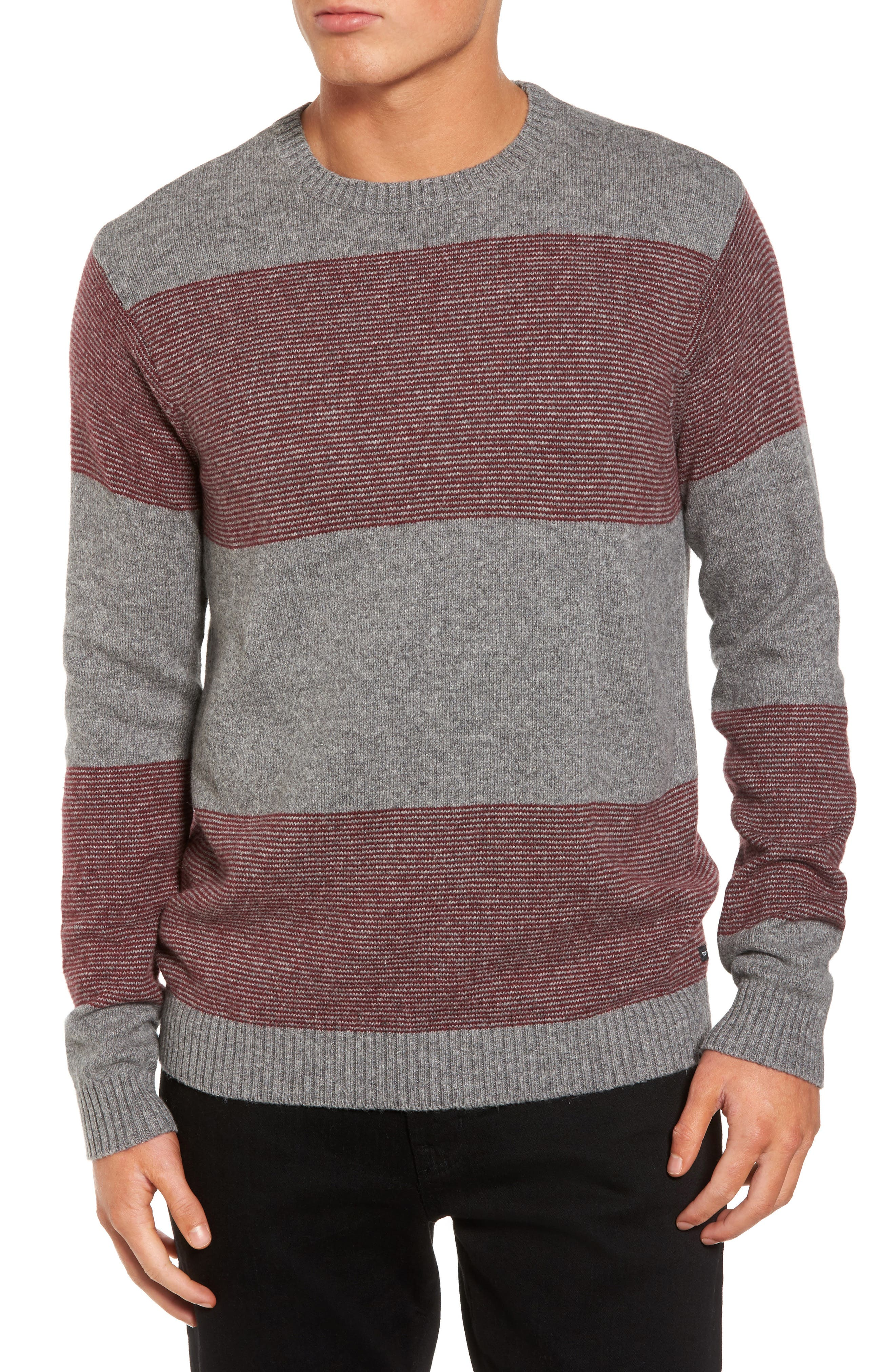 Channels Crewneck Sweater,                         Main,                         color, Athletic Heather