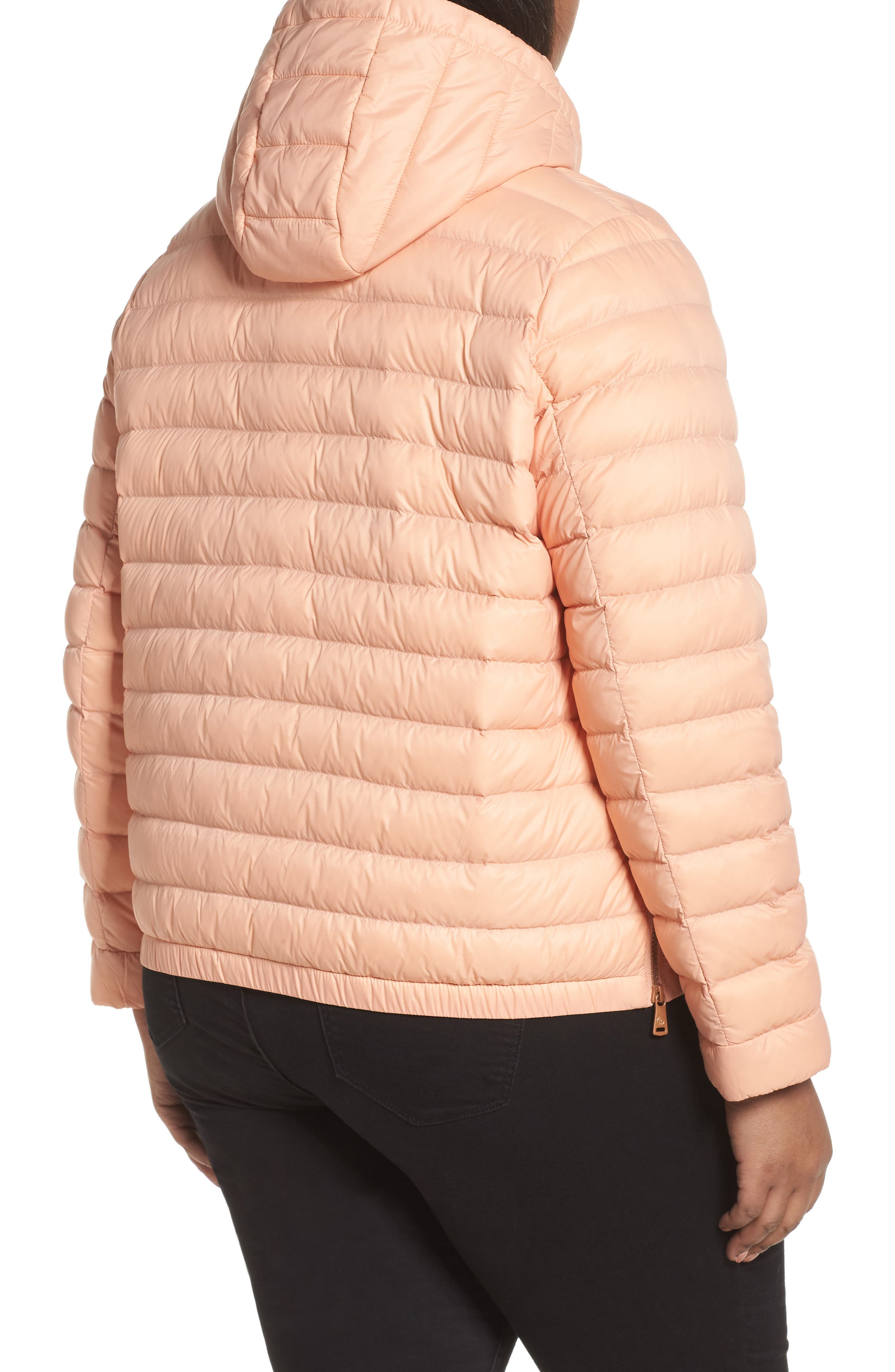 Water Resistant Insulated Hooded Bomber Jacket,                             Alternate thumbnail 2, color,                             Peach