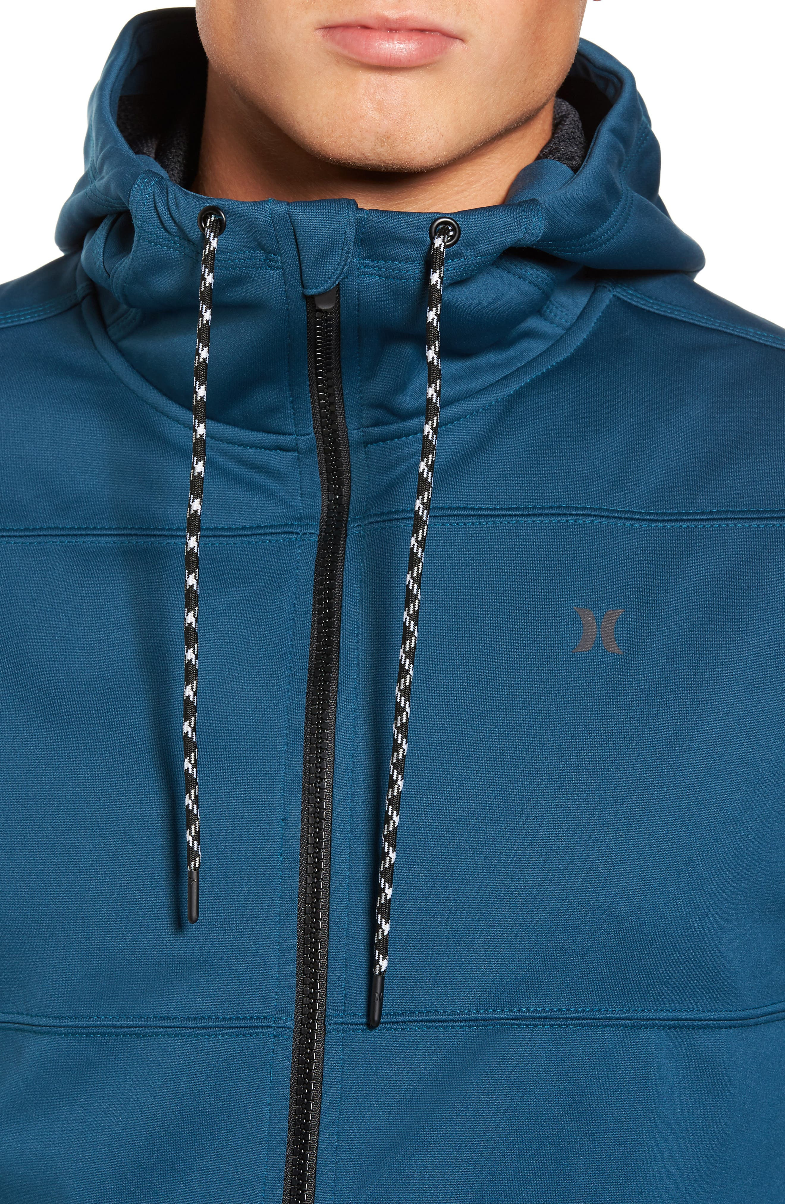 Therma Protect Zip Hoodie,                             Alternate thumbnail 4, color,                             Space Blue