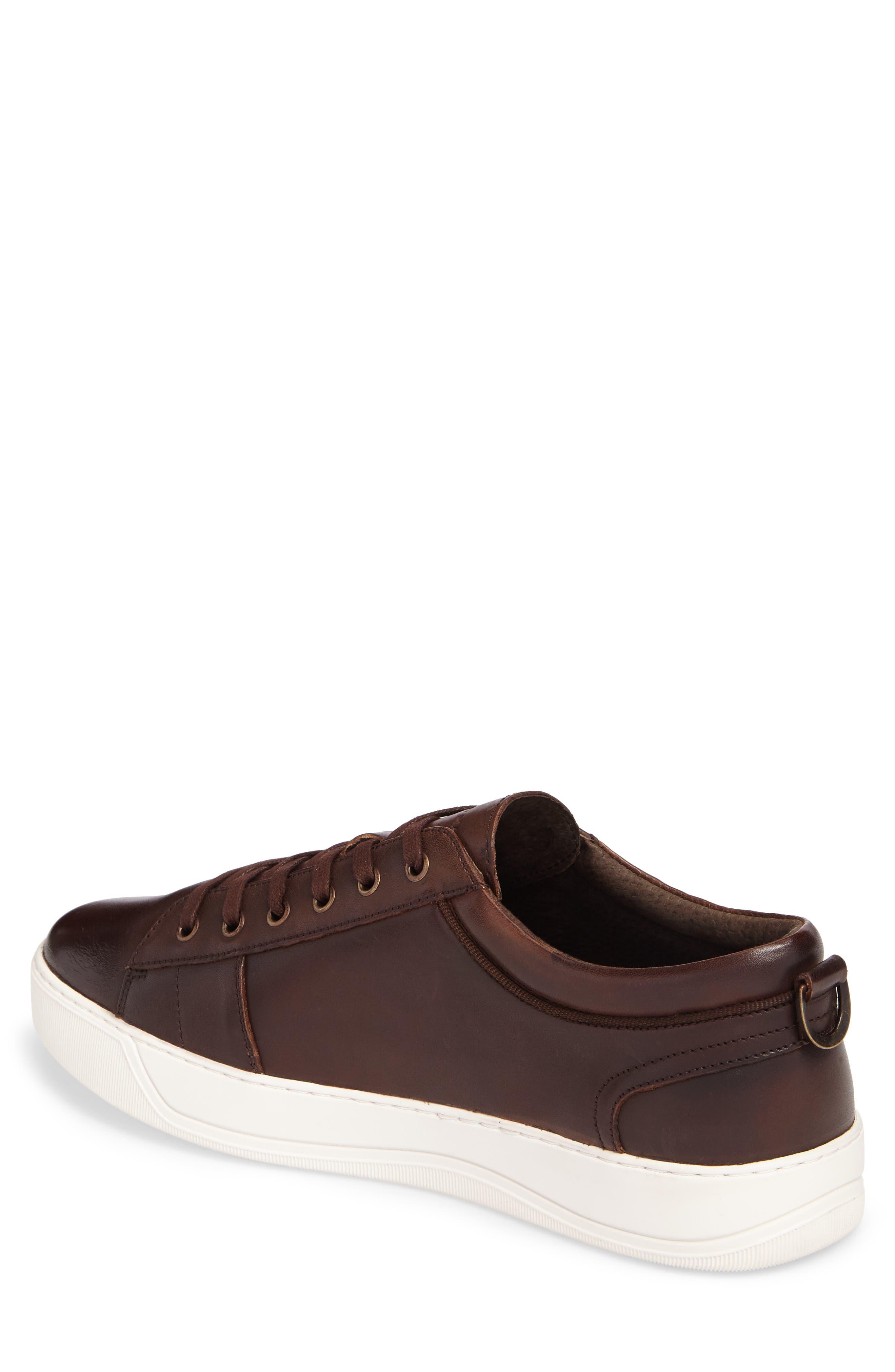 'Darwood' Sneaker,                             Alternate thumbnail 2, color,                             Dark Brown/ White Leather