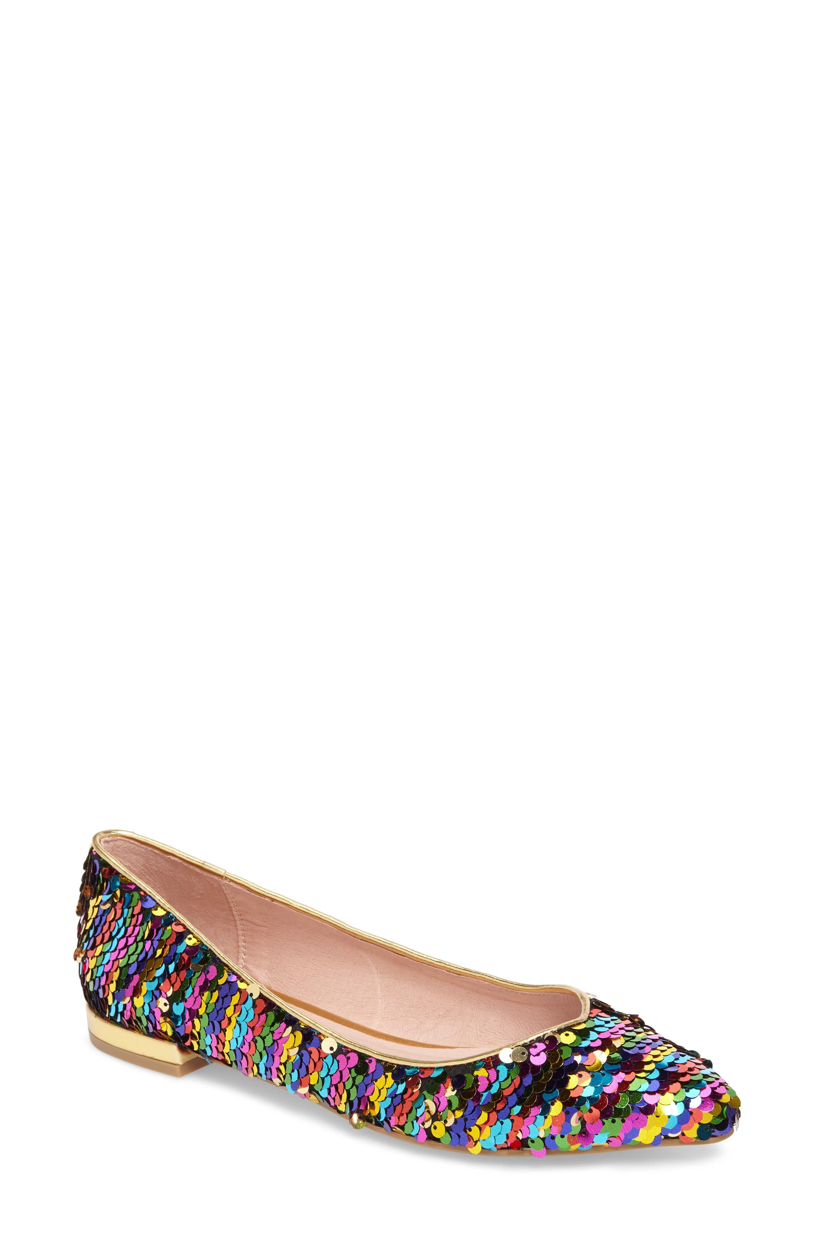 Gavin Pointy Toe Flat,                         Main,                         color, Rainbow