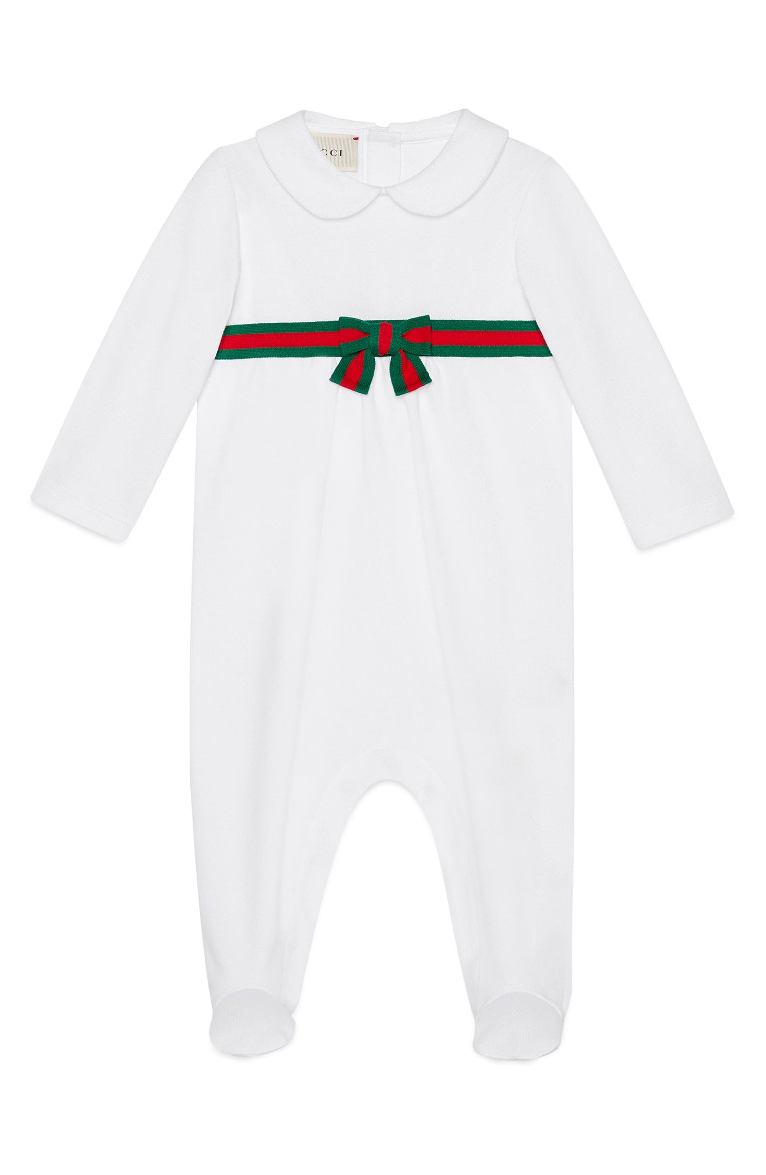 Gucci Web Stripe Romper (Baby)