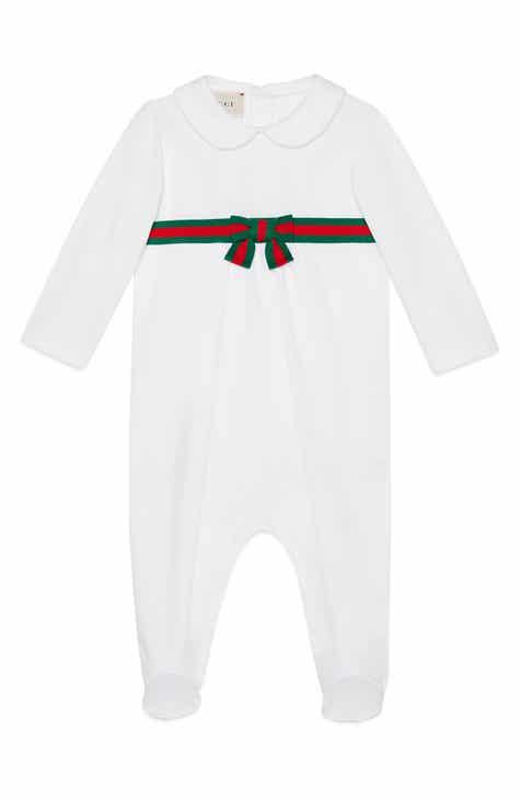 f64691dc022 Gucci Web Stripe Romper (Baby)
