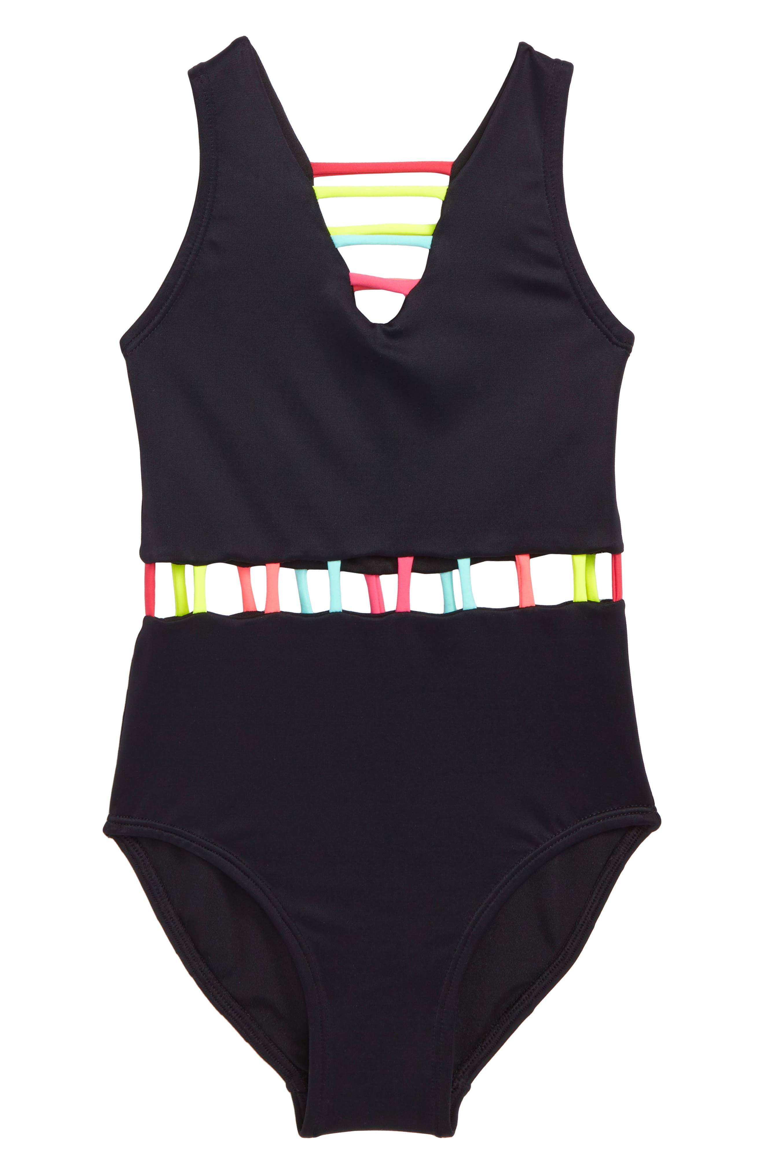 The Jade One-Piece Swimsuit,                             Main thumbnail 1, color,                             Black