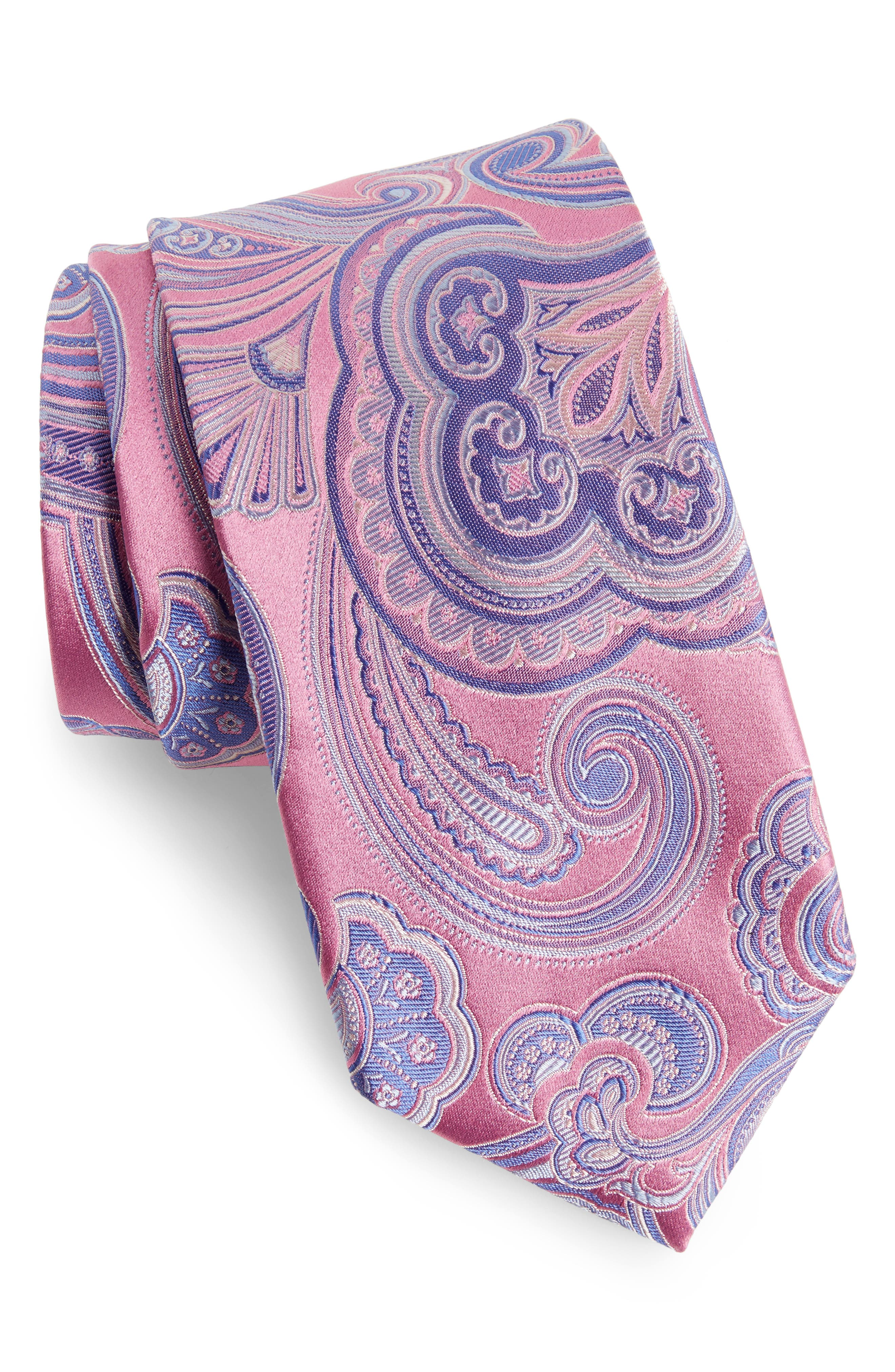 Nordstrom Men's Shop Paisley Silk Tie (X-Long)