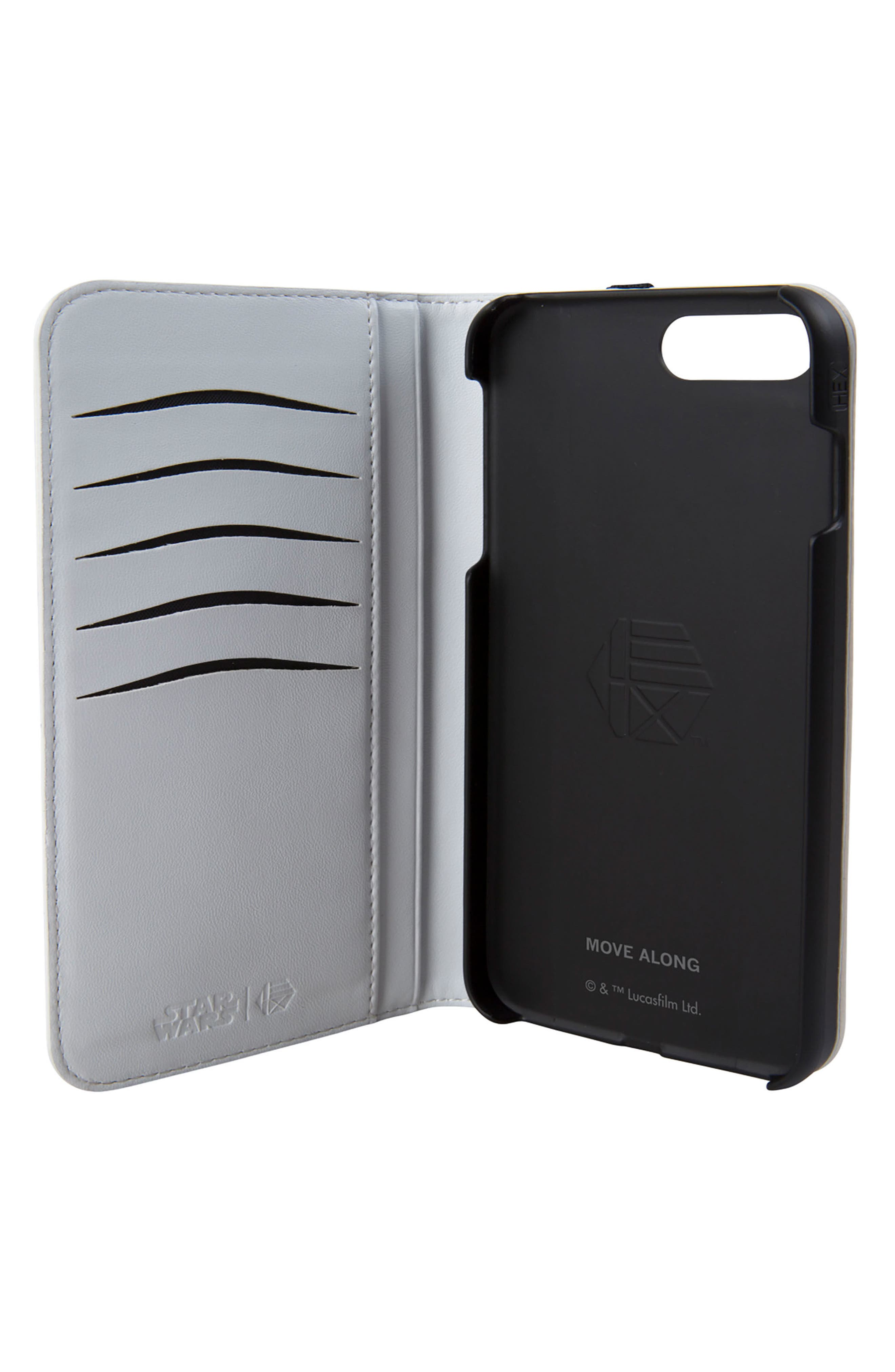 Stormtrooper iPhone 8 Plus Wallet Case,                             Alternate thumbnail 2, color,                             White