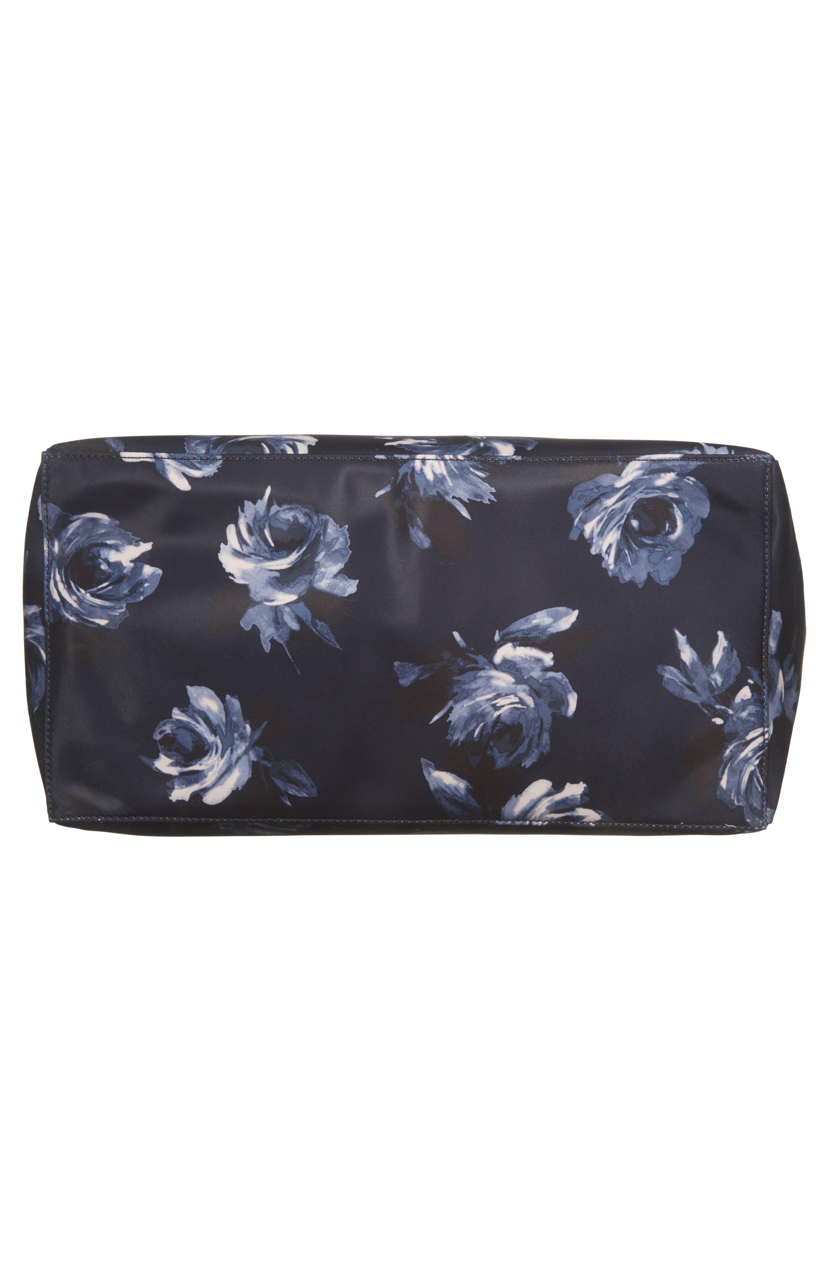 watson lane night rose betheny nylon diaper bag,                             Alternate thumbnail 6, color,                             Night Rose