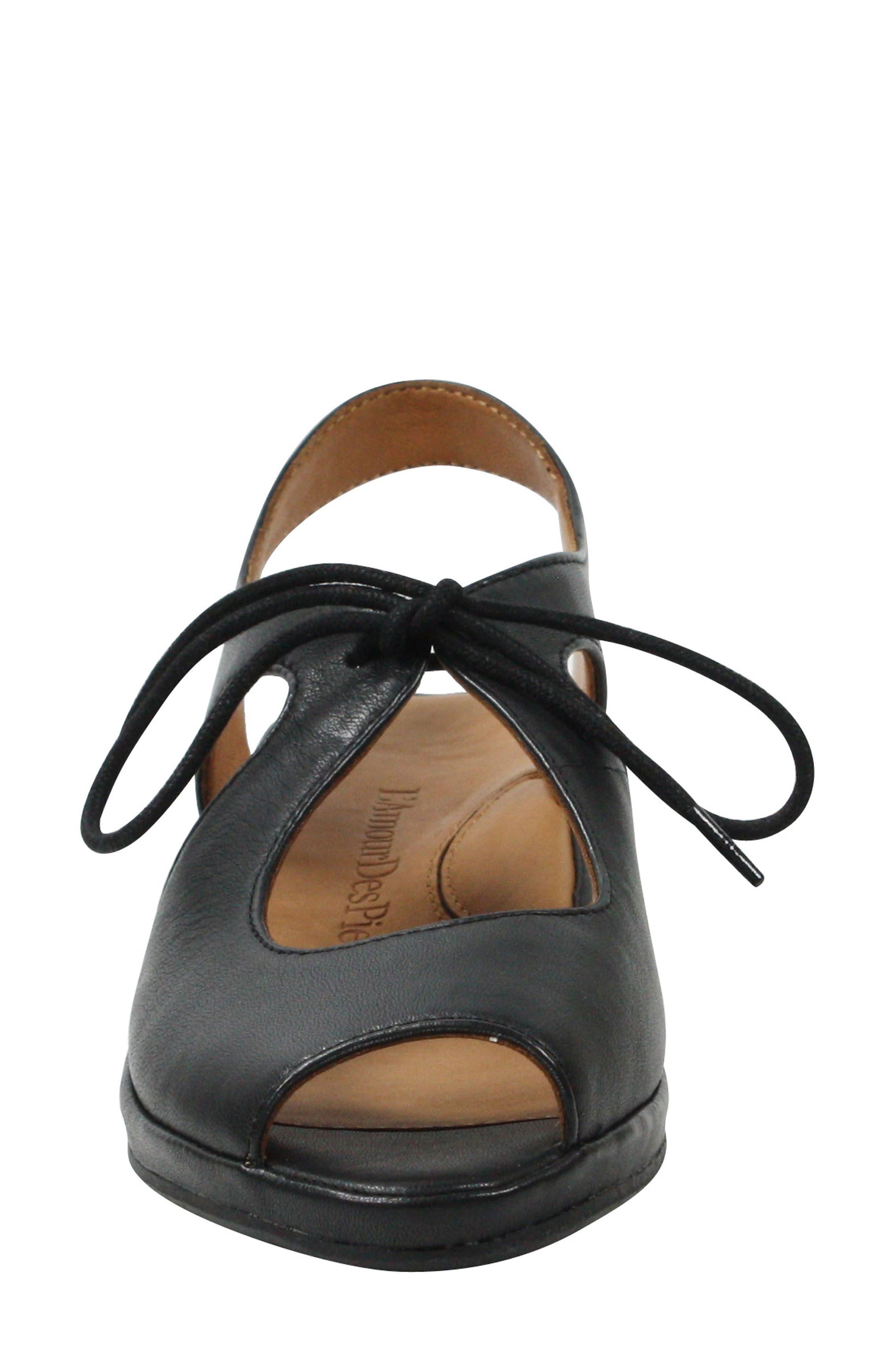 Brettany Sandal,                             Alternate thumbnail 3, color,                             Black Leather