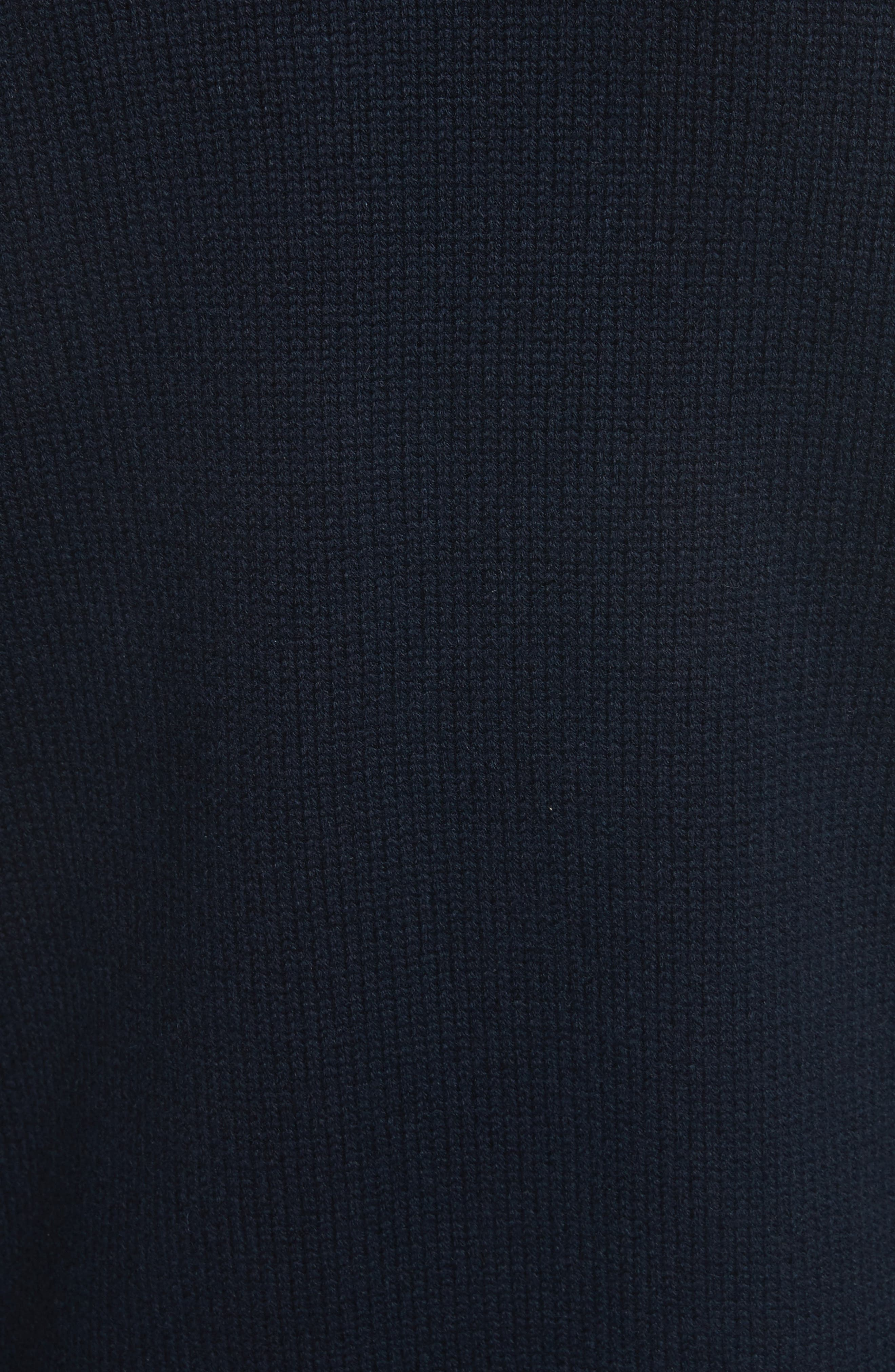 Quilted Velvet & Knit Cardigan,                             Alternate thumbnail 5, color,                             Navy