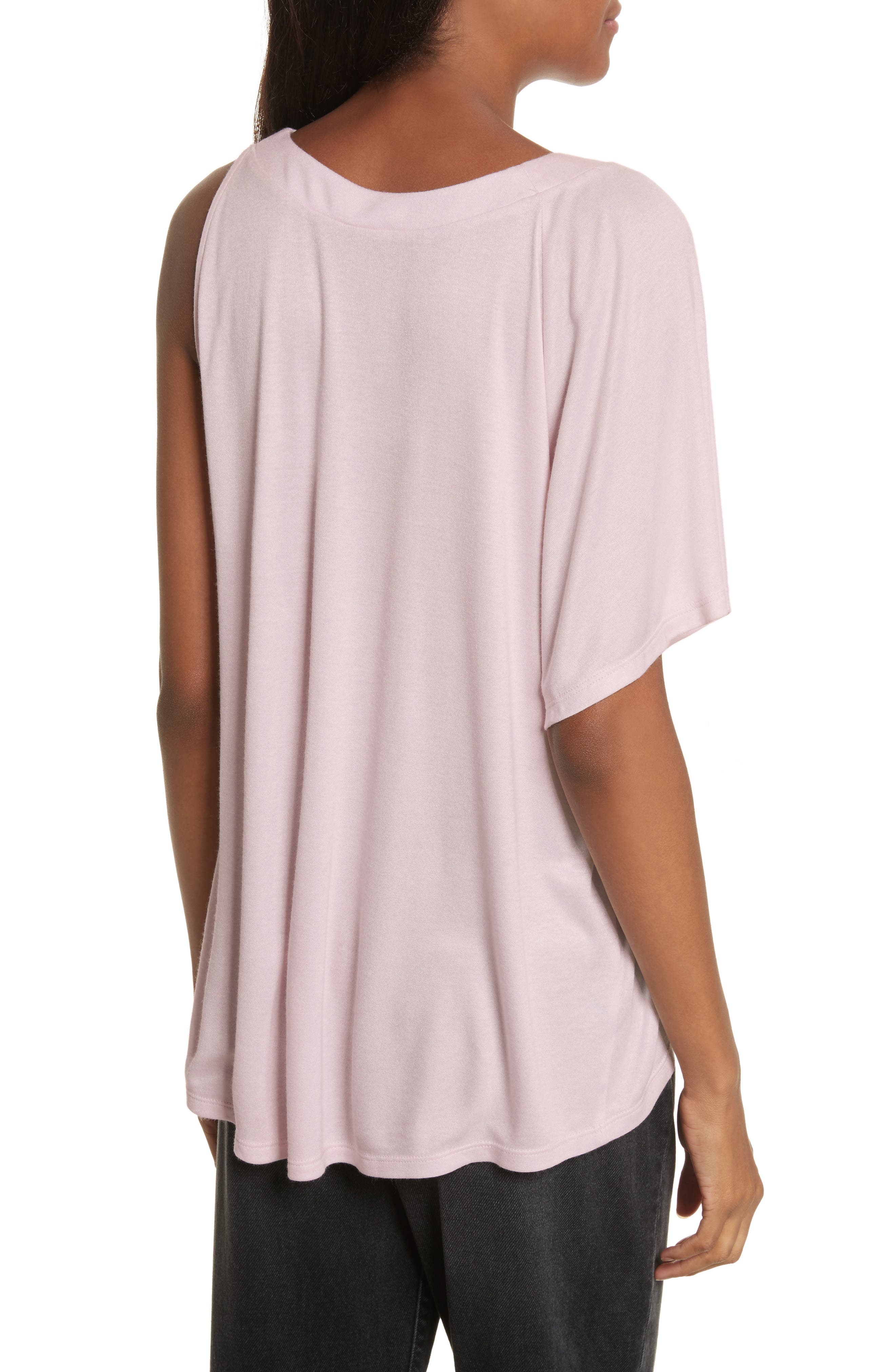 Willow Shine Jersey One-Shoulder Top,                             Alternate thumbnail 2, color,                             Pale Pink