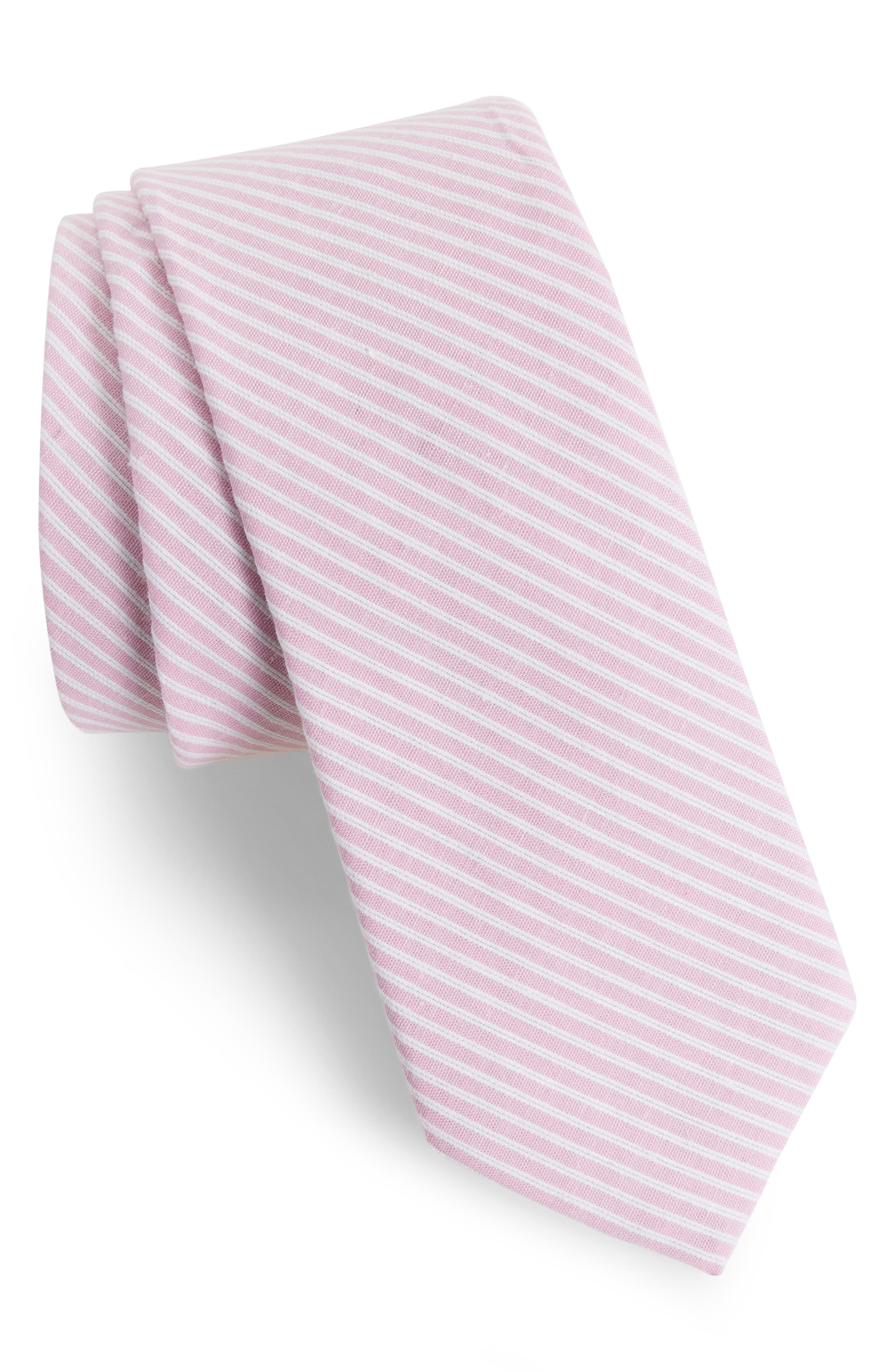 Alternate Image 1 Selected - Nordstrom Men's Shop Kenton Stripe Cotton Tie