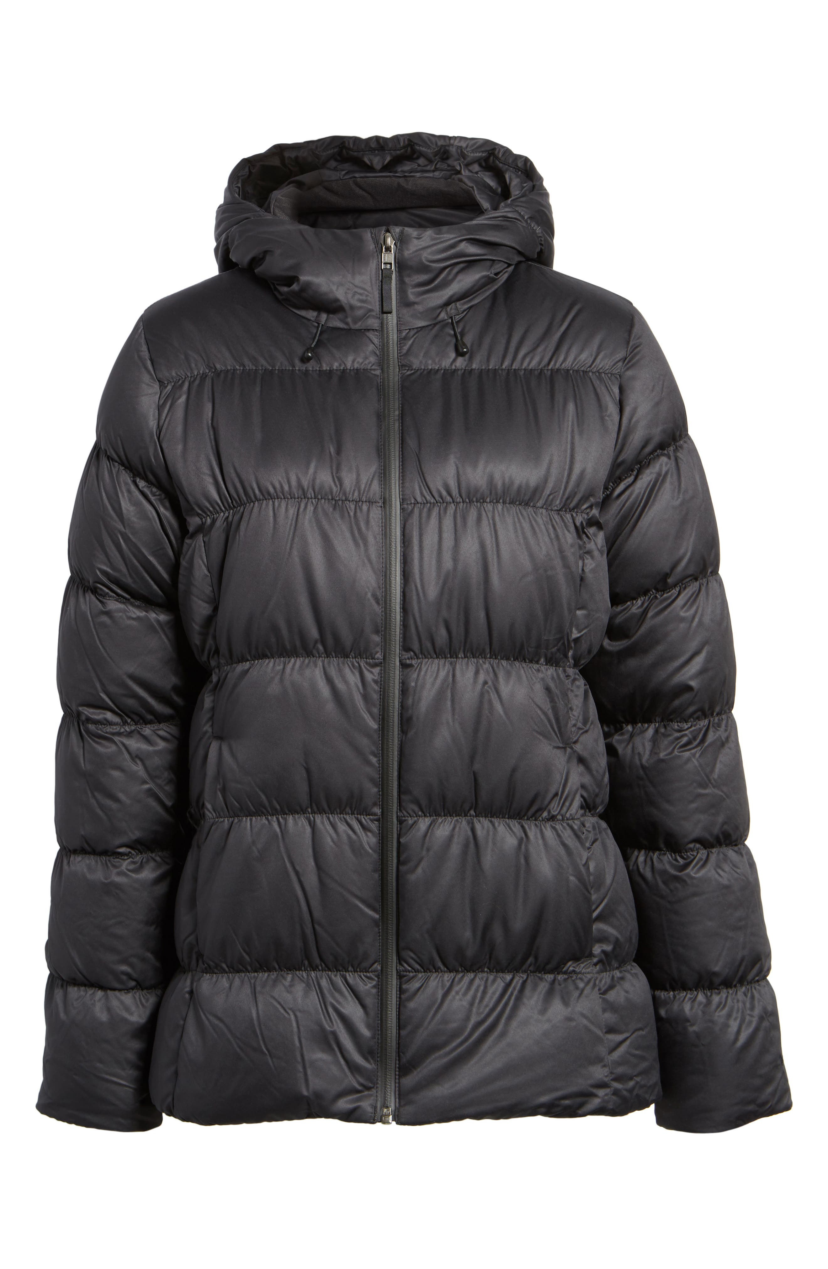 Downtown Waterproof 600-Fill Power Down Jacket,                             Alternate thumbnail 7, color,                             Black
