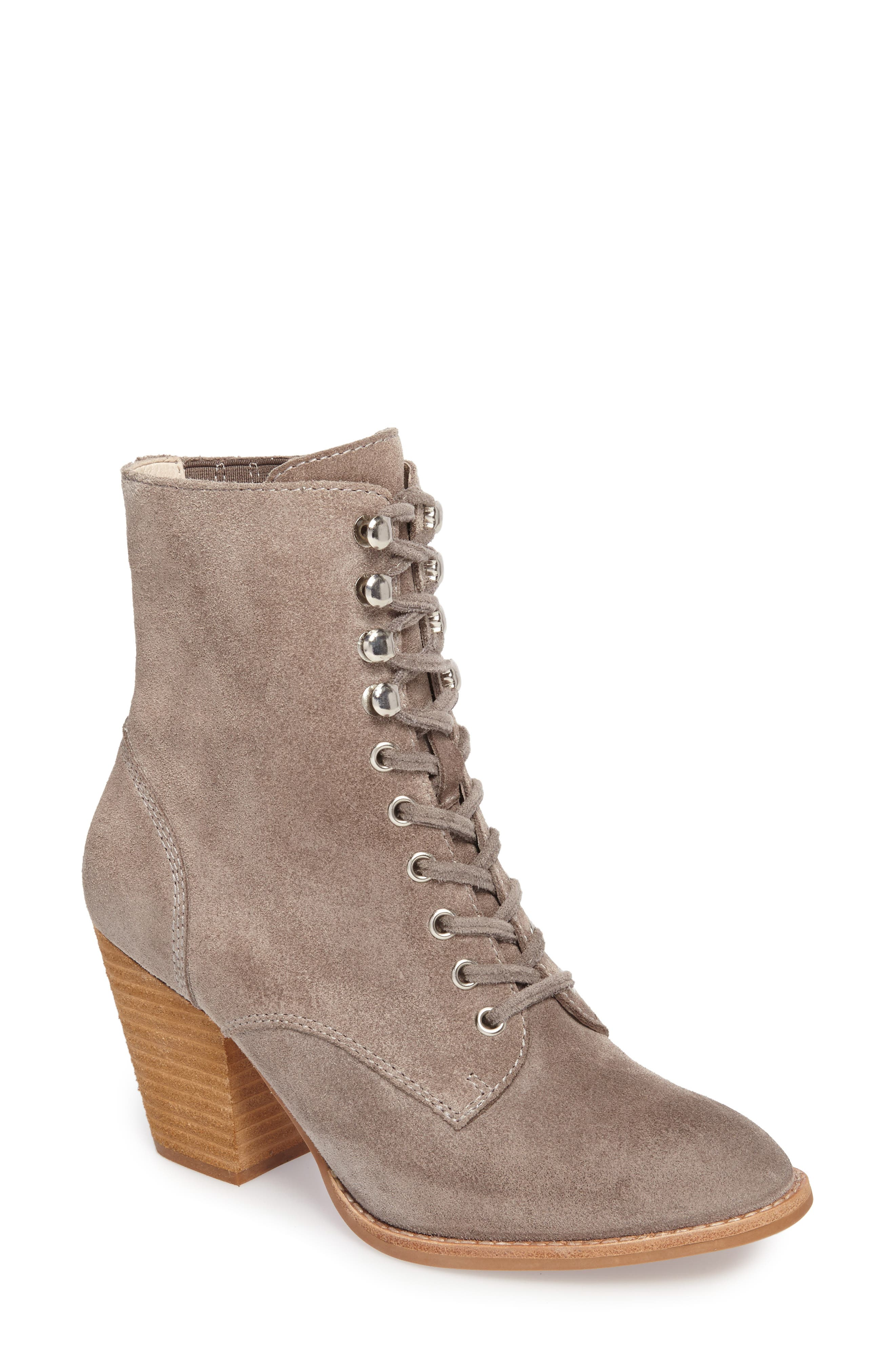 Elman Bootie,                         Main,                         color, Taupe Suede