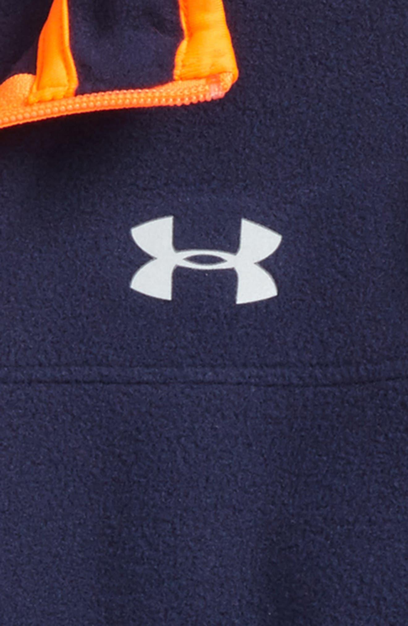 Alternate Image 2  - Under Armour Logo Quarter Zip Pullover (Toddler Boys & Little Boys)
