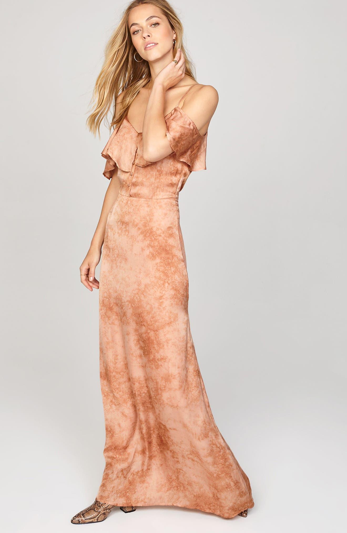 Alternate Image 2  - Amuse Society Lost Paradise Off the Shoulder Maxi Dress
