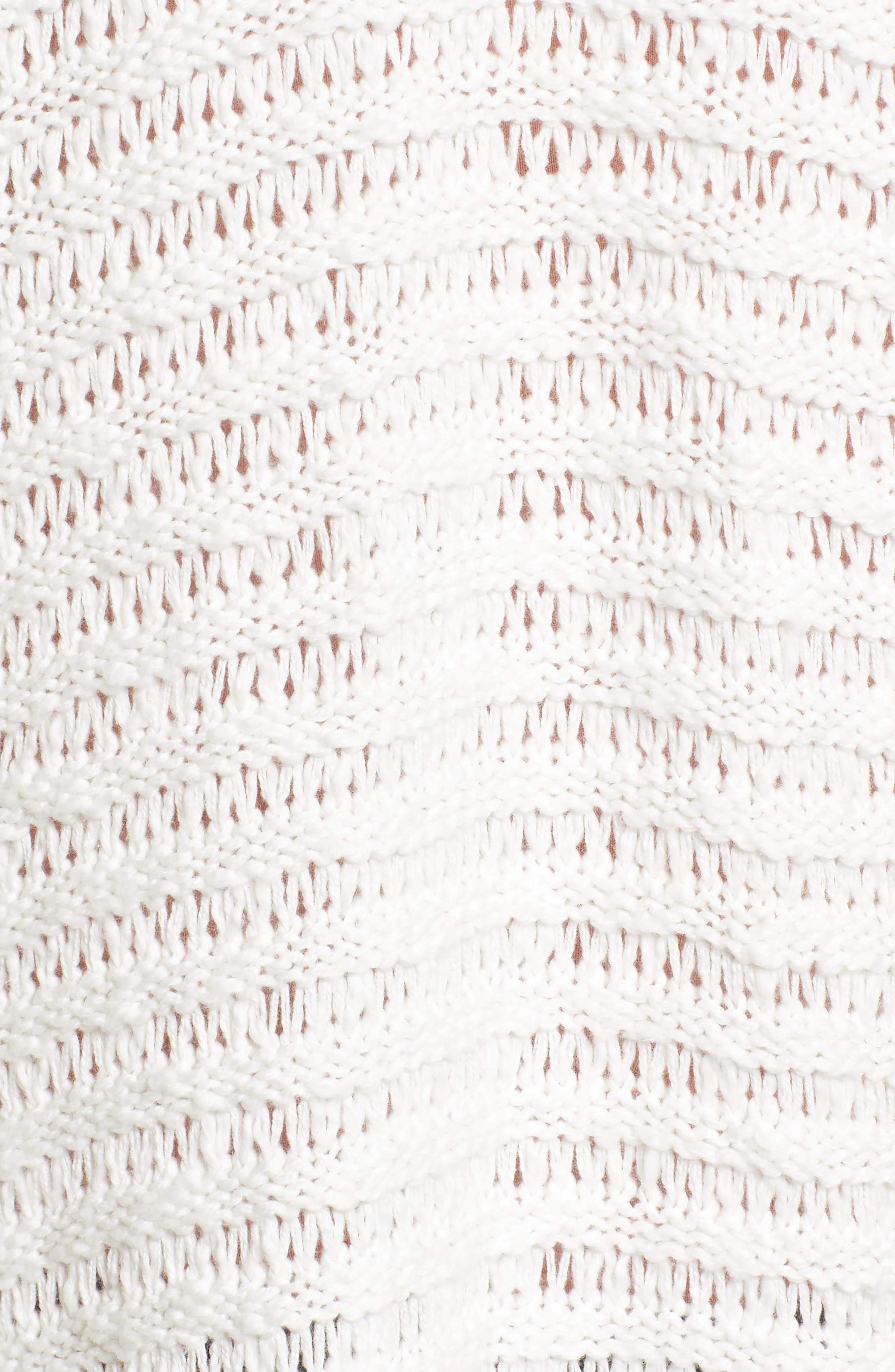 Open Cardigan,                             Alternate thumbnail 5, color,                             On The Prowl/ Ivory