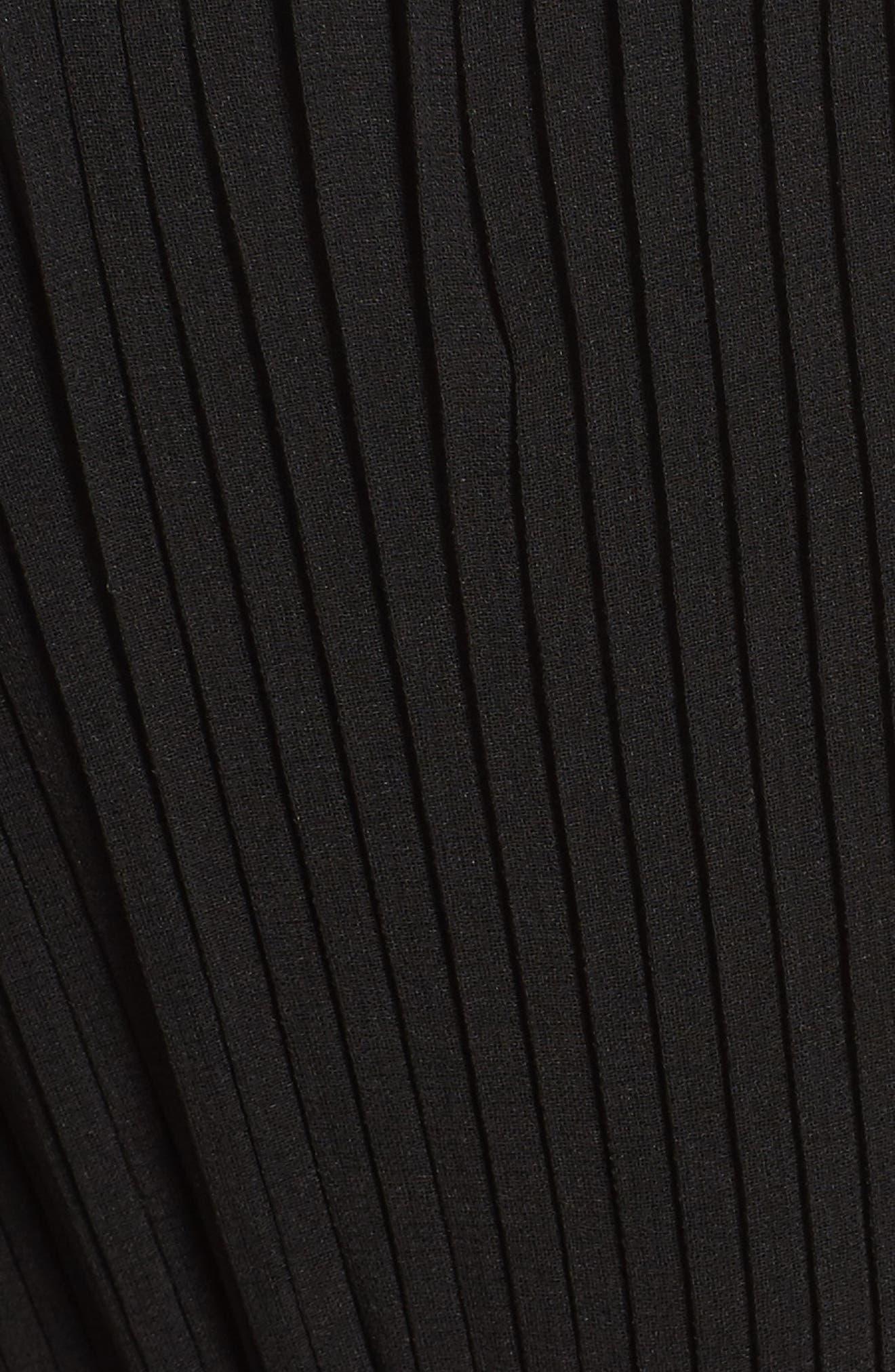 Gardenia Pleat Gown,                             Alternate thumbnail 5, color,                             Black