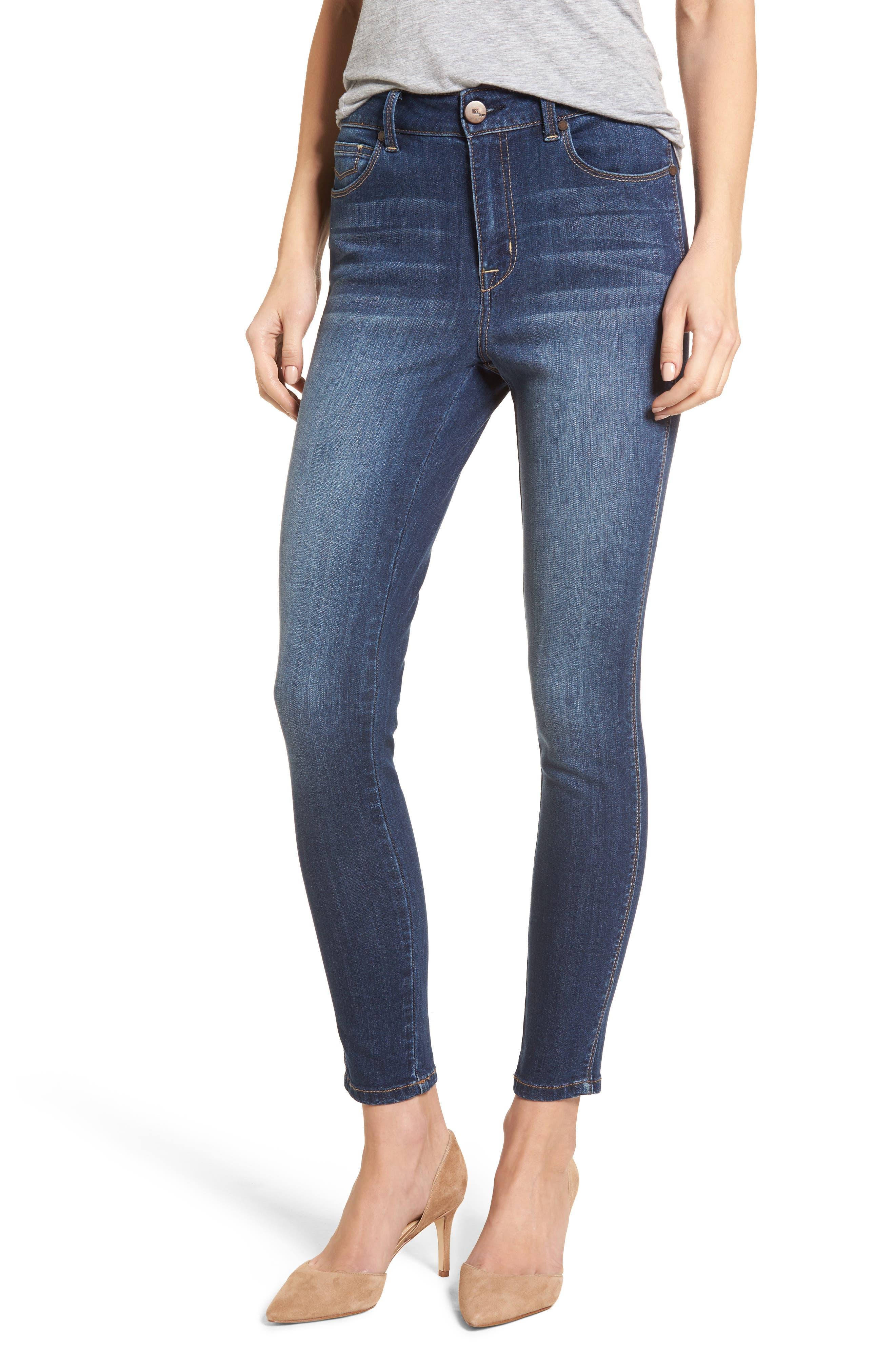 High Waist Skinny Jeans,                         Main,                         color, Ziggy Med Wash