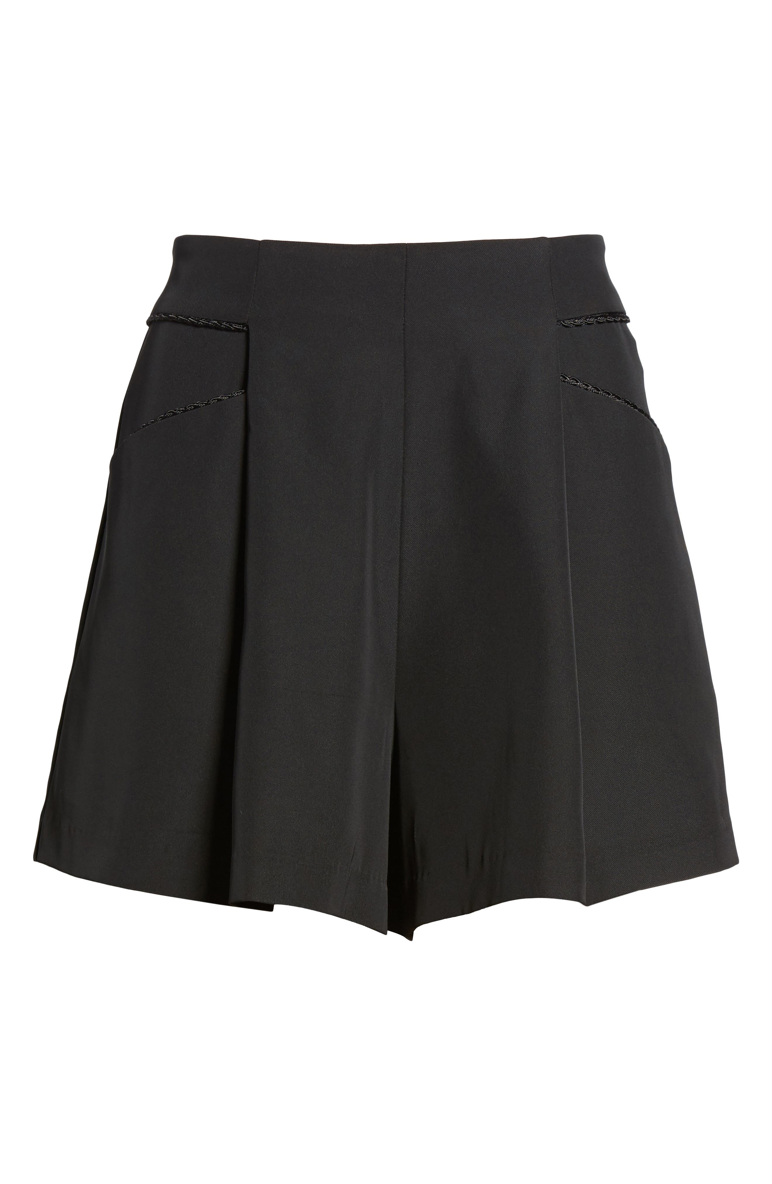 Ceremony High Waist Shorts,                             Alternate thumbnail 6, color,                             Black
