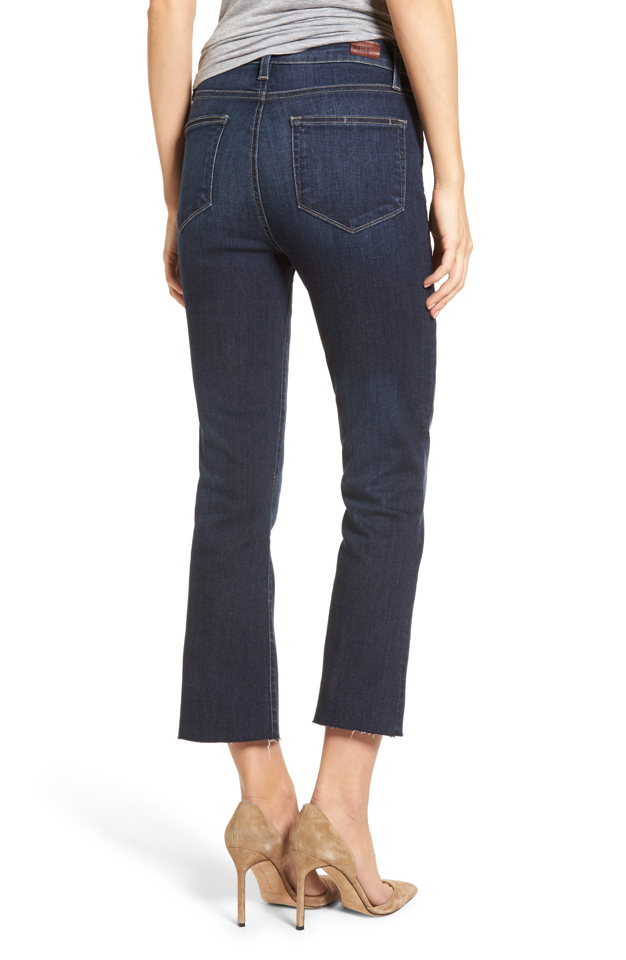 Transcend Vintage - Colette Crop Flare Jeans,                             Alternate thumbnail 2, color,                             Anza