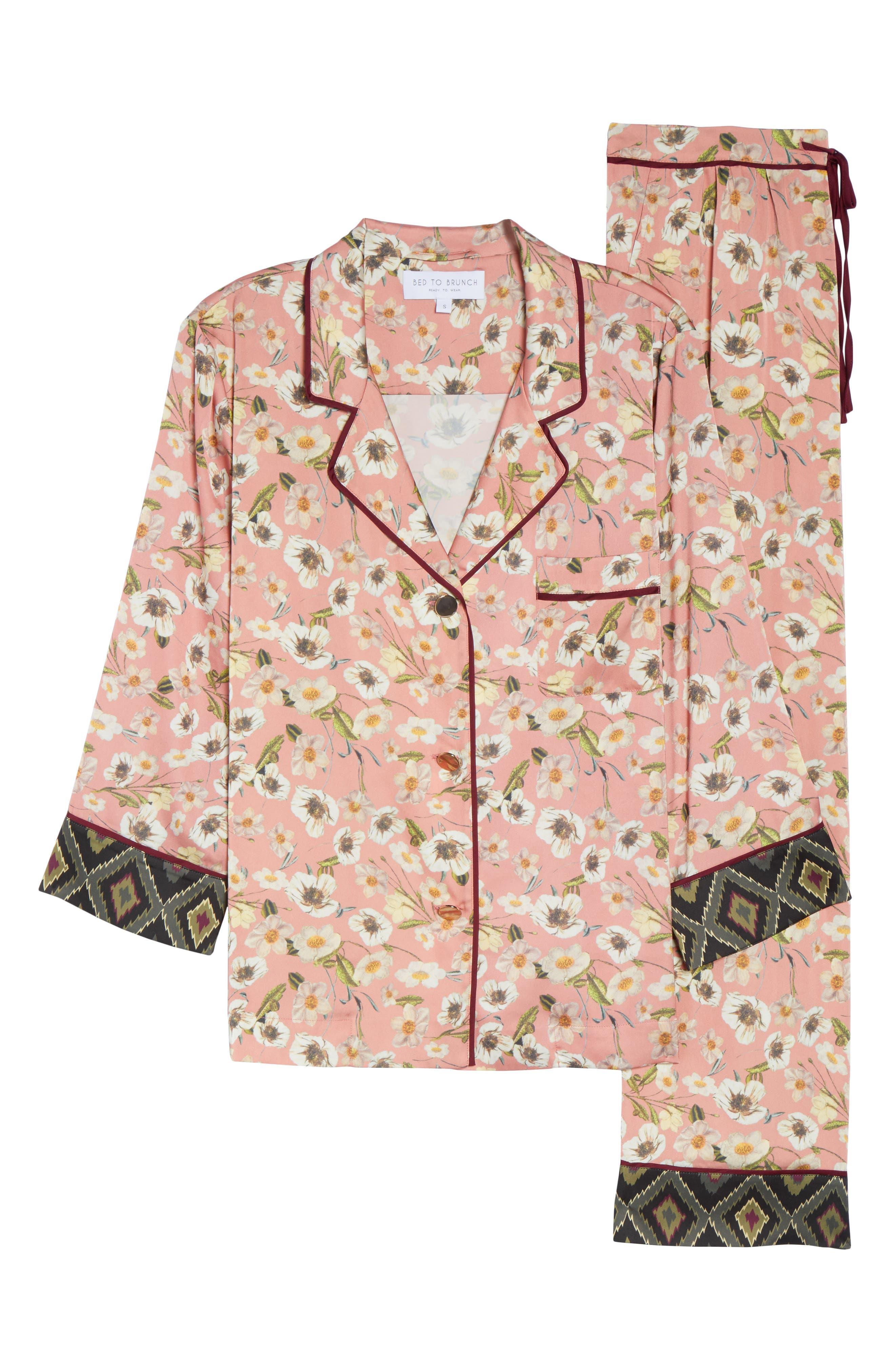 Print Pajamas,                             Alternate thumbnail 4, color,                             Peach
