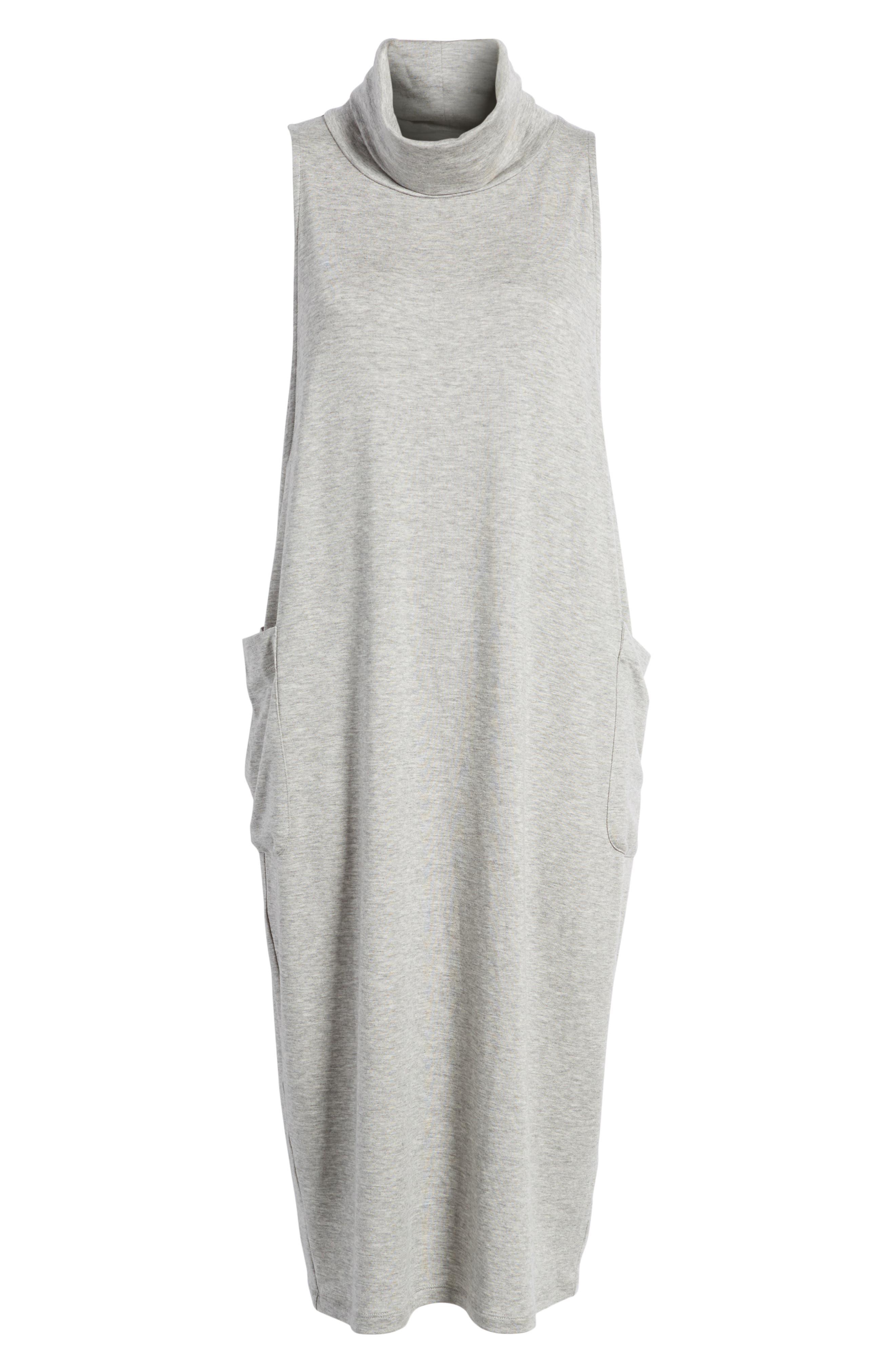 Stretch Tencel<sup>®</sup> Lyocell Knit Jumper Dress,                             Alternate thumbnail 8, color,                             Dark Pearl