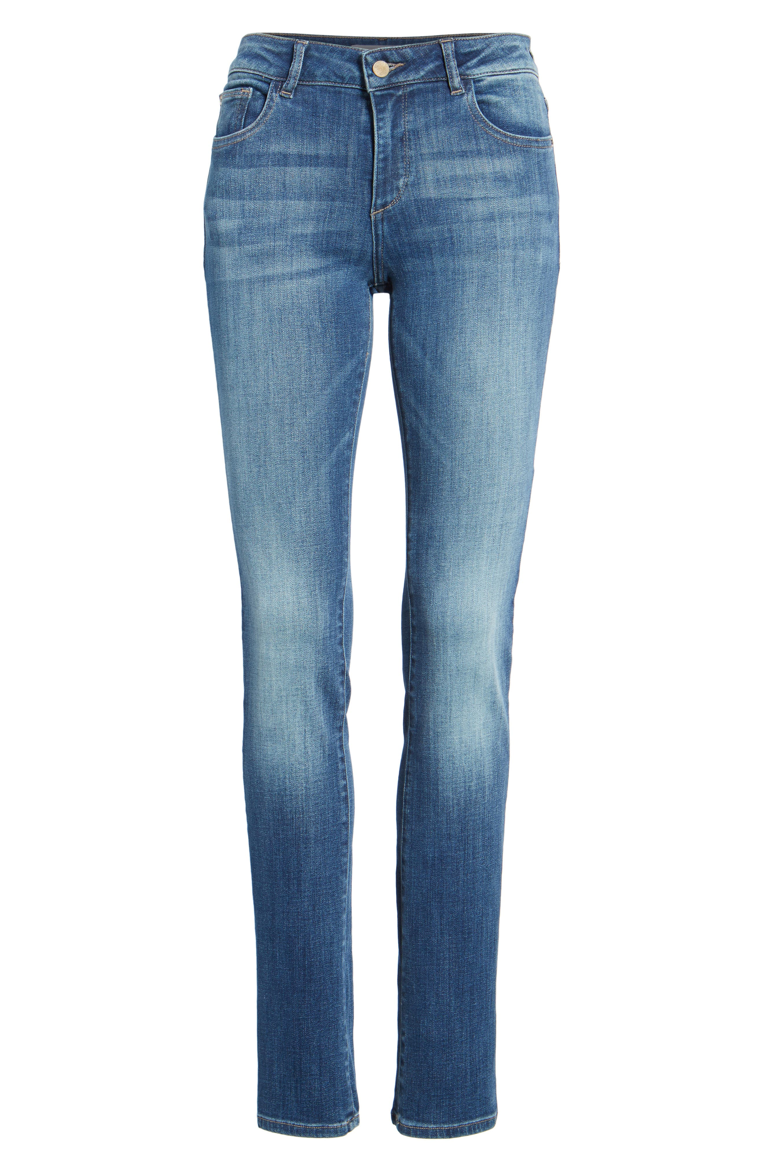 Mara Straight Leg Jeans,                             Alternate thumbnail 7, color,                             Spring Lake
