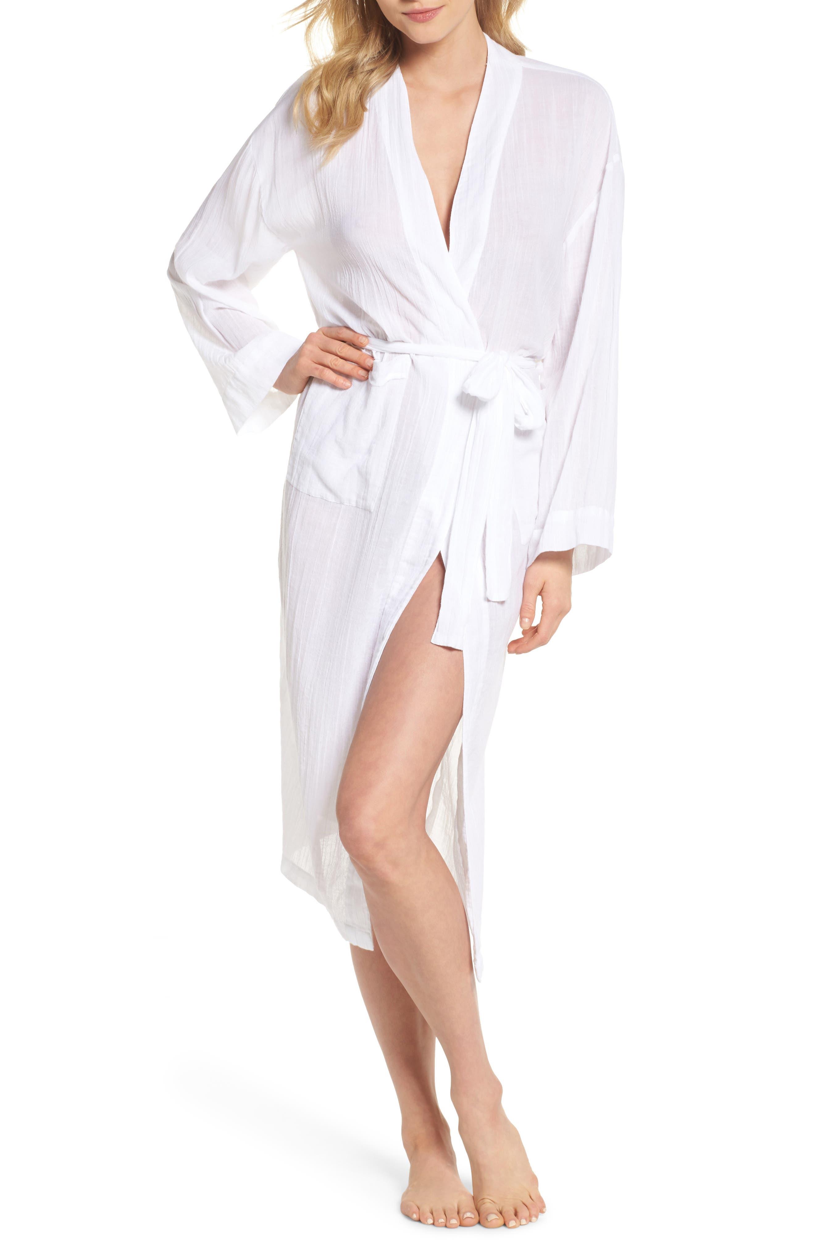 Gauze Robe,                         Main,                         color, White