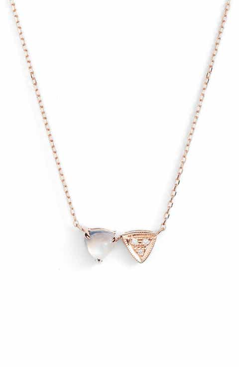 Dana Rebecca Designs Diamond Stone Pendant Necklace