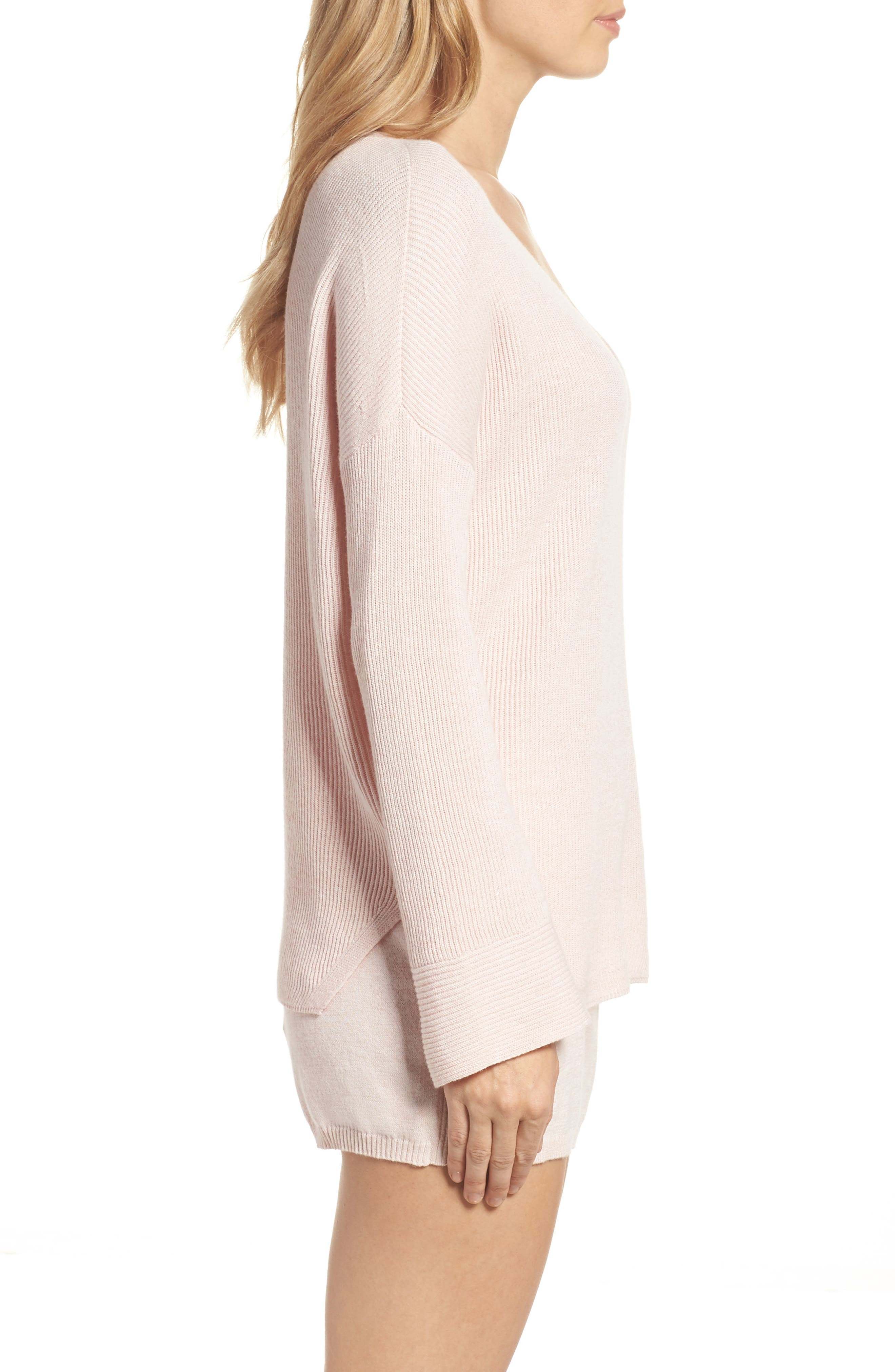 Veronica Lounge Pullover,                             Alternate thumbnail 3, color,                             Soft Pink