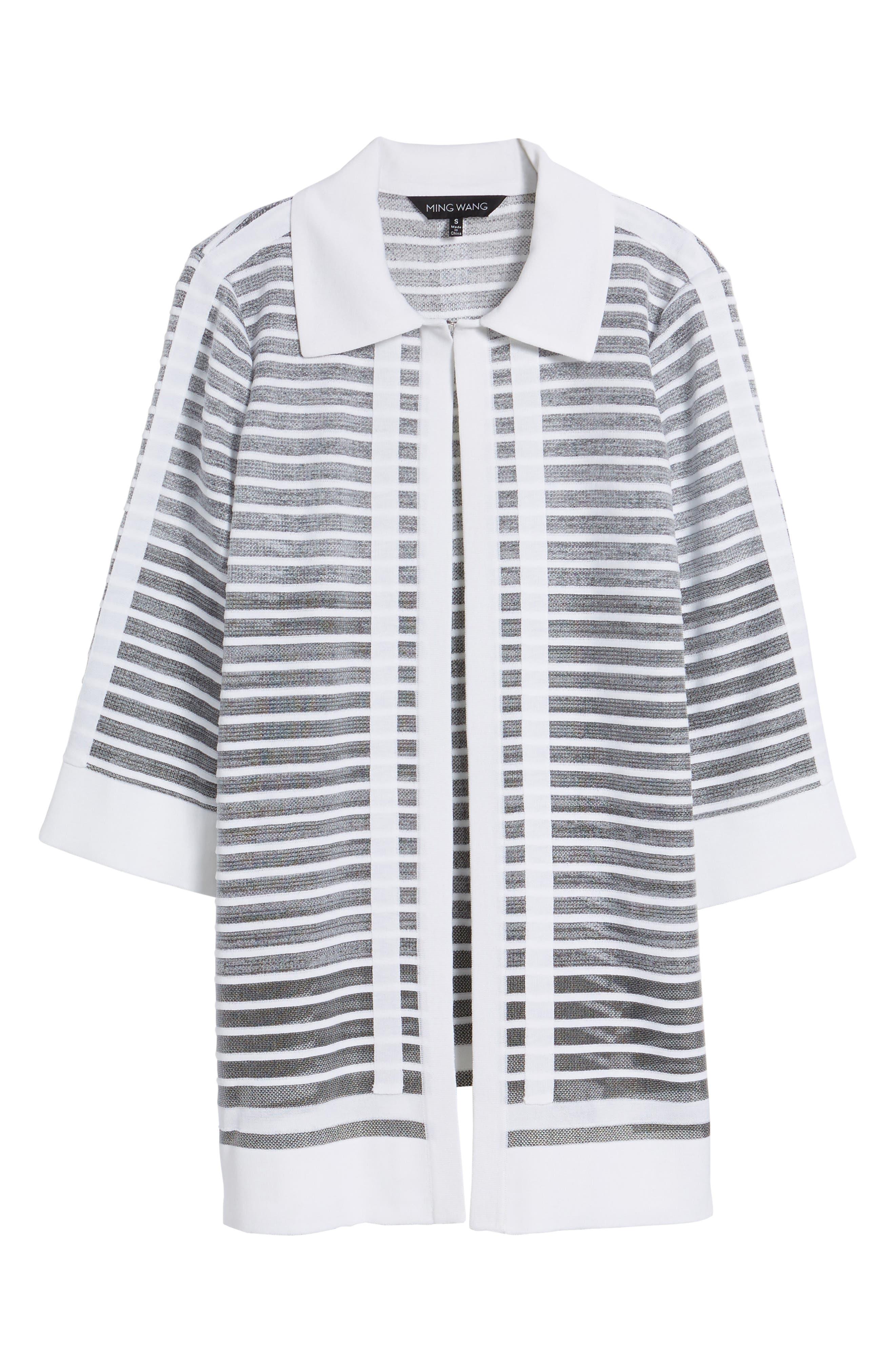 Alternate Image 6  - Ming Wang Stripe Jacquard Jacket