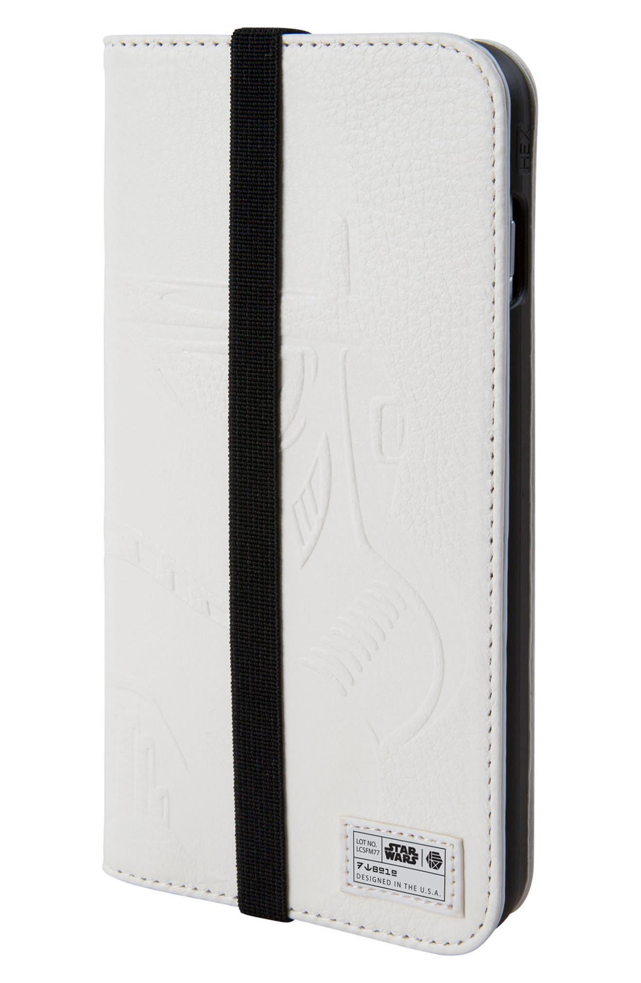 Stormtrooper iPhone 8 Plus Wallet Case,                             Main thumbnail 1, color,                             White