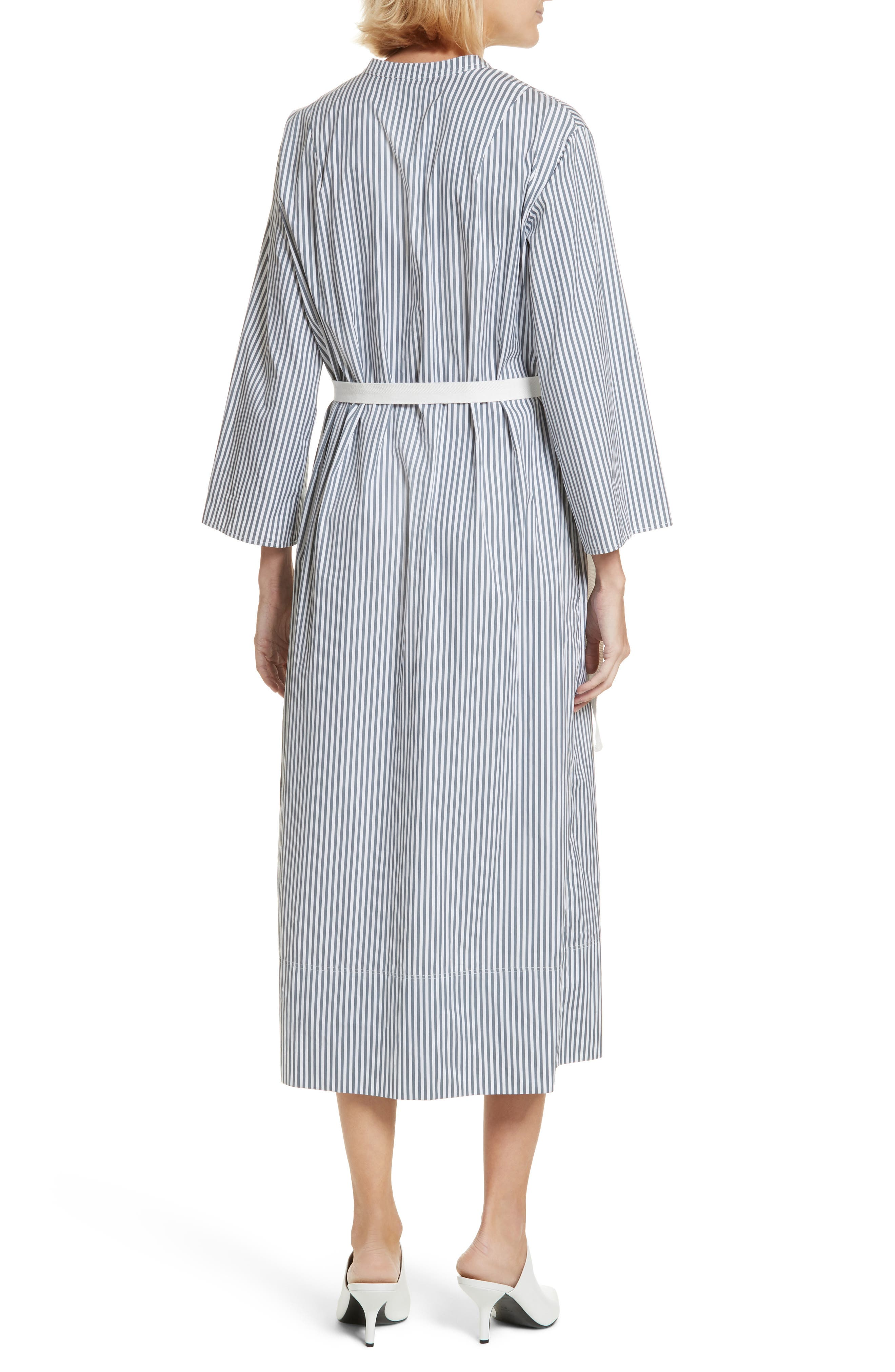 Candy Stripe Midi Dress,                             Alternate thumbnail 2, color,                             Ink