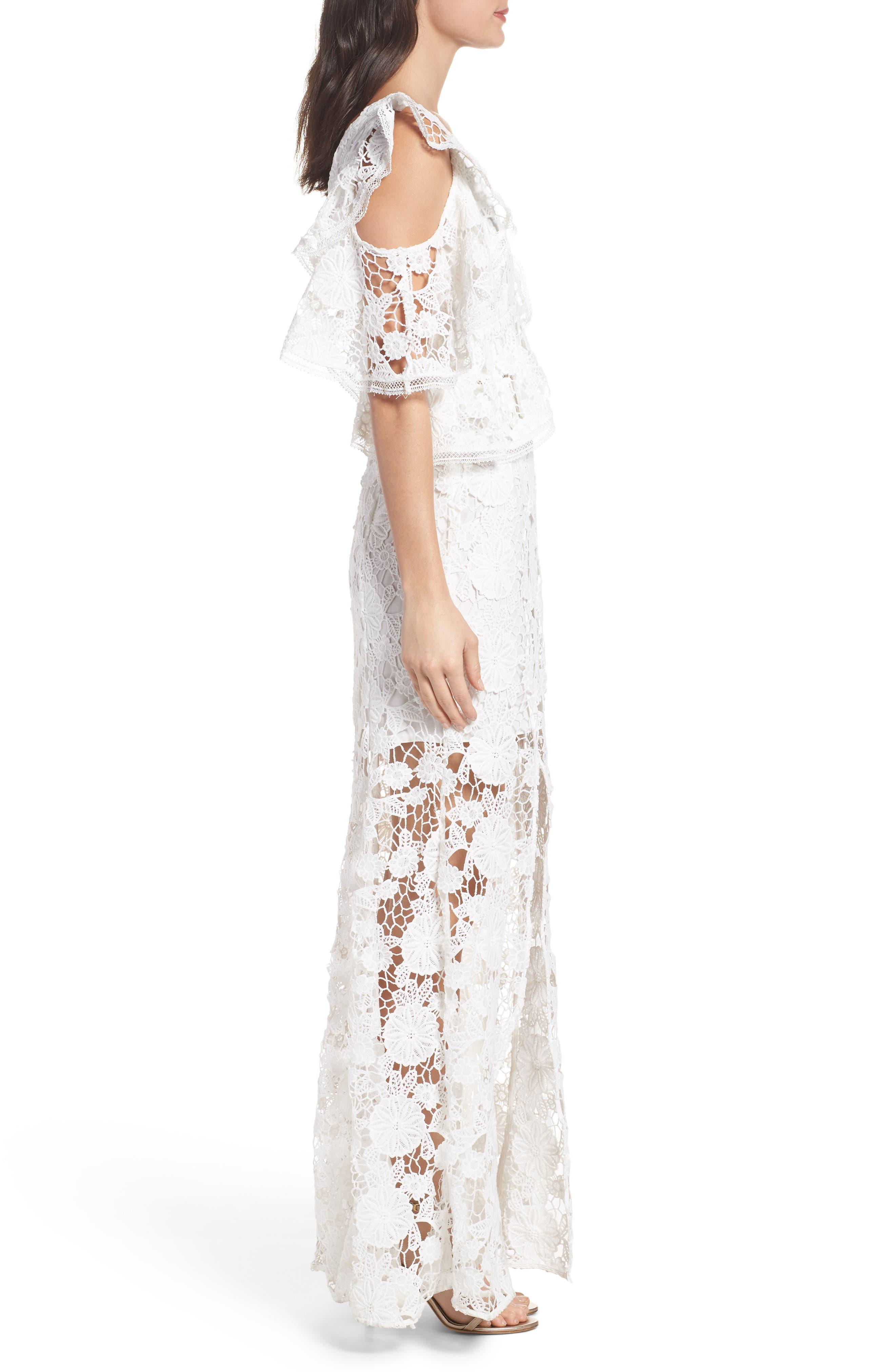 Alternate Image 3  - Keepsake the Label Frameless Ruffle Crochet Gown