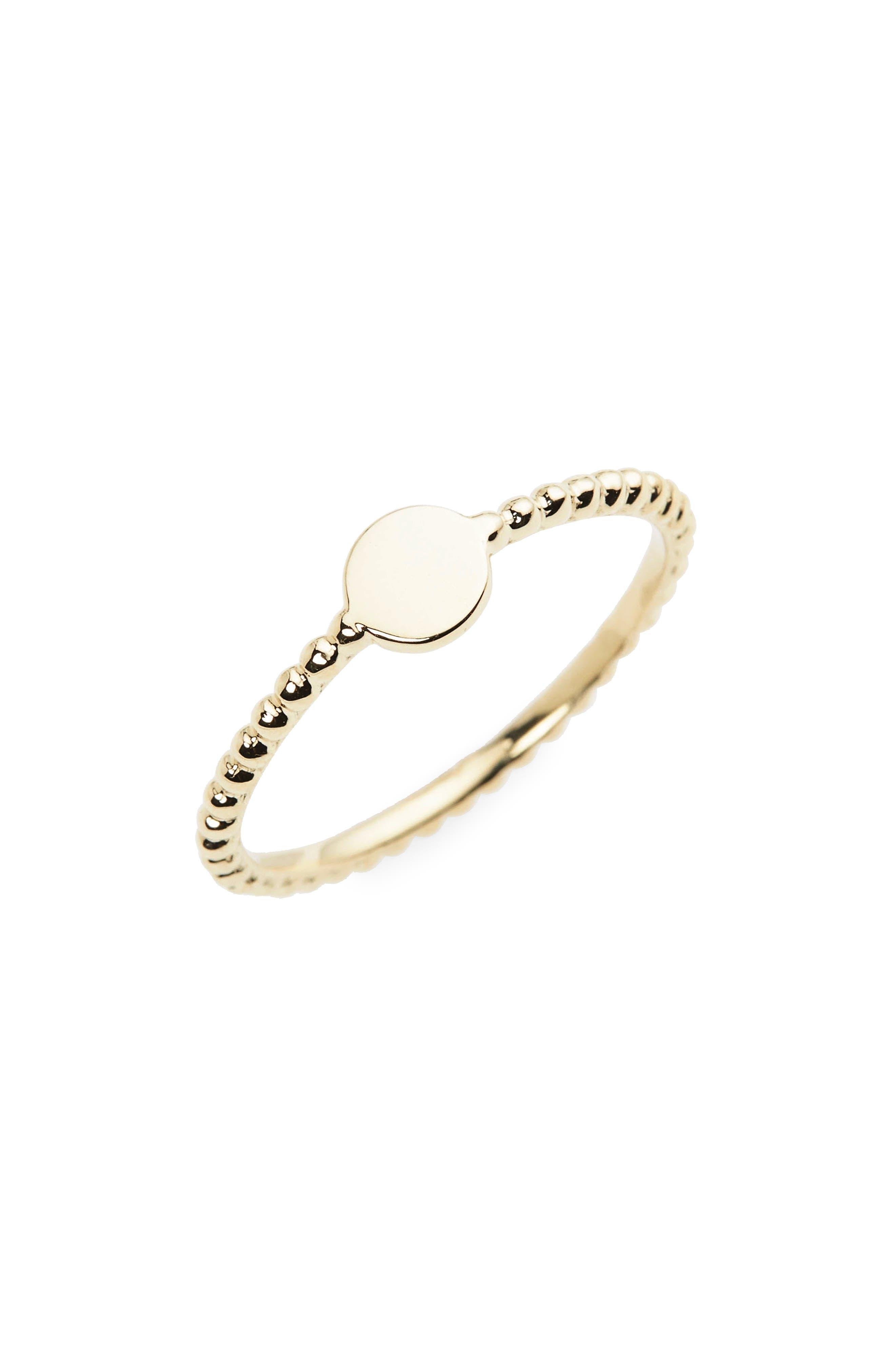 14k Gold Circle Ring,                         Main,                         color, Yellow Gold