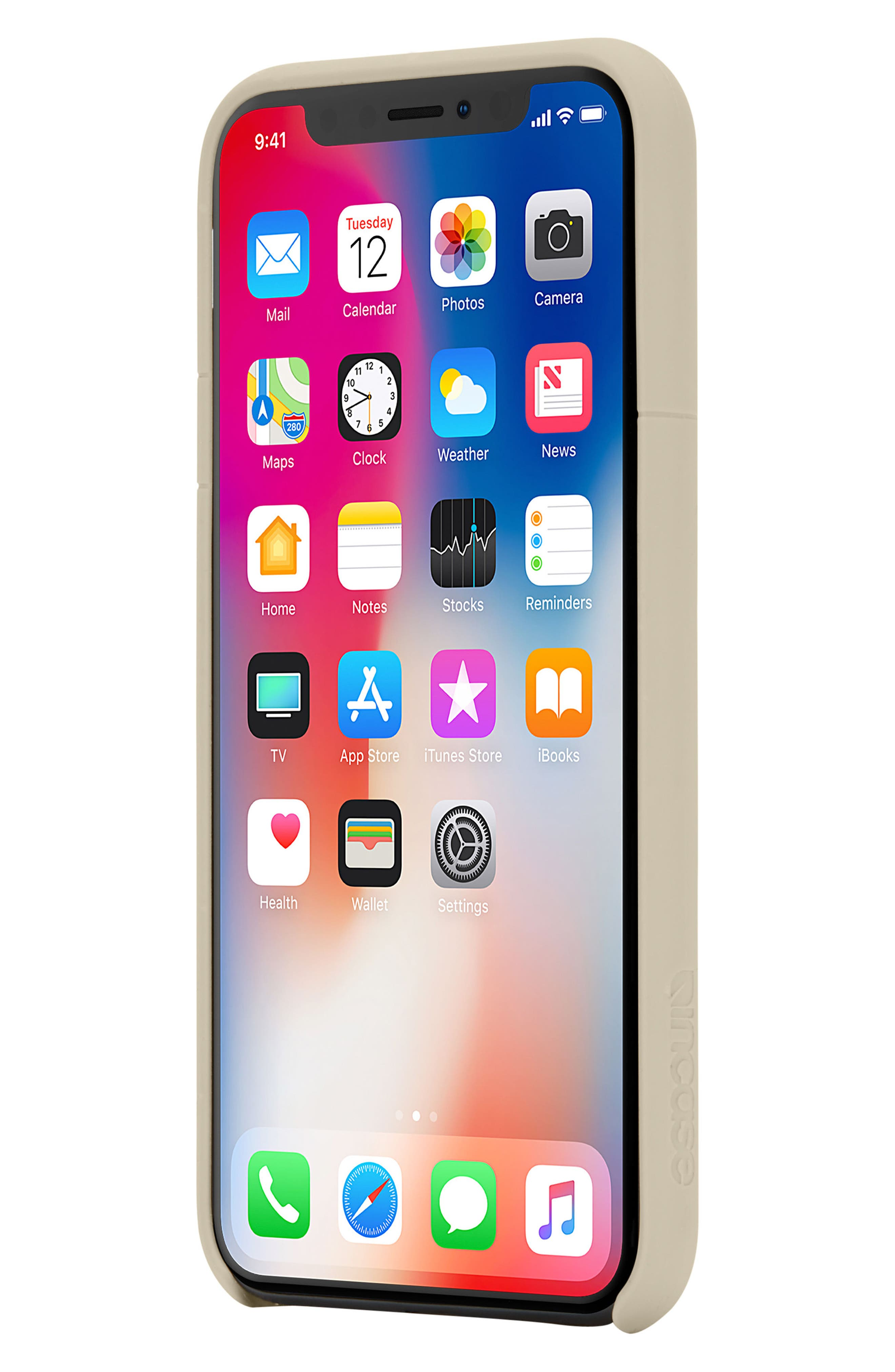 Facet iPhone X Case,                             Alternate thumbnail 7, color,                             Gold