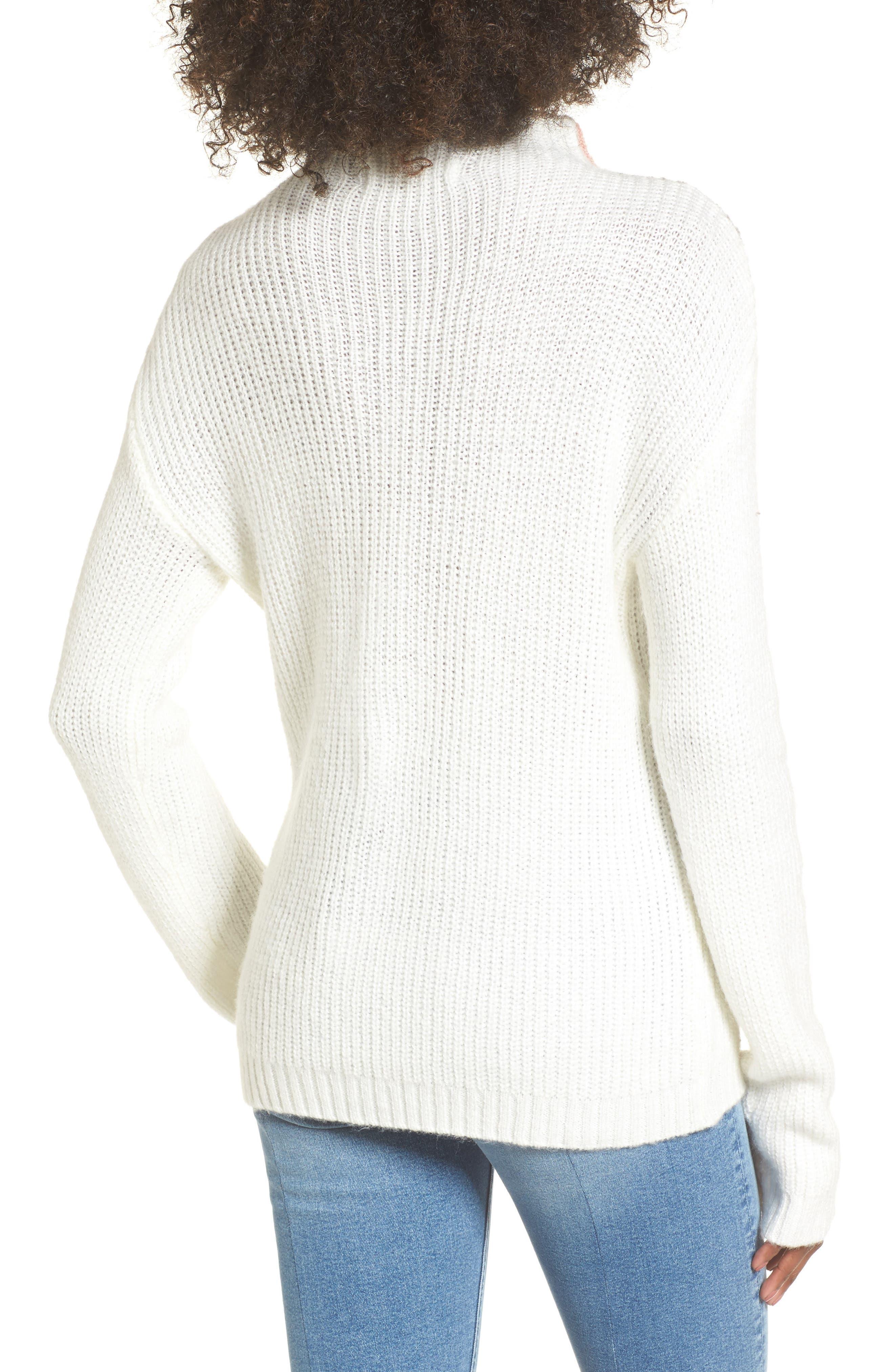 Alternate Image 2  - Cotton Emporium Tri-Color Après Ski Sweater