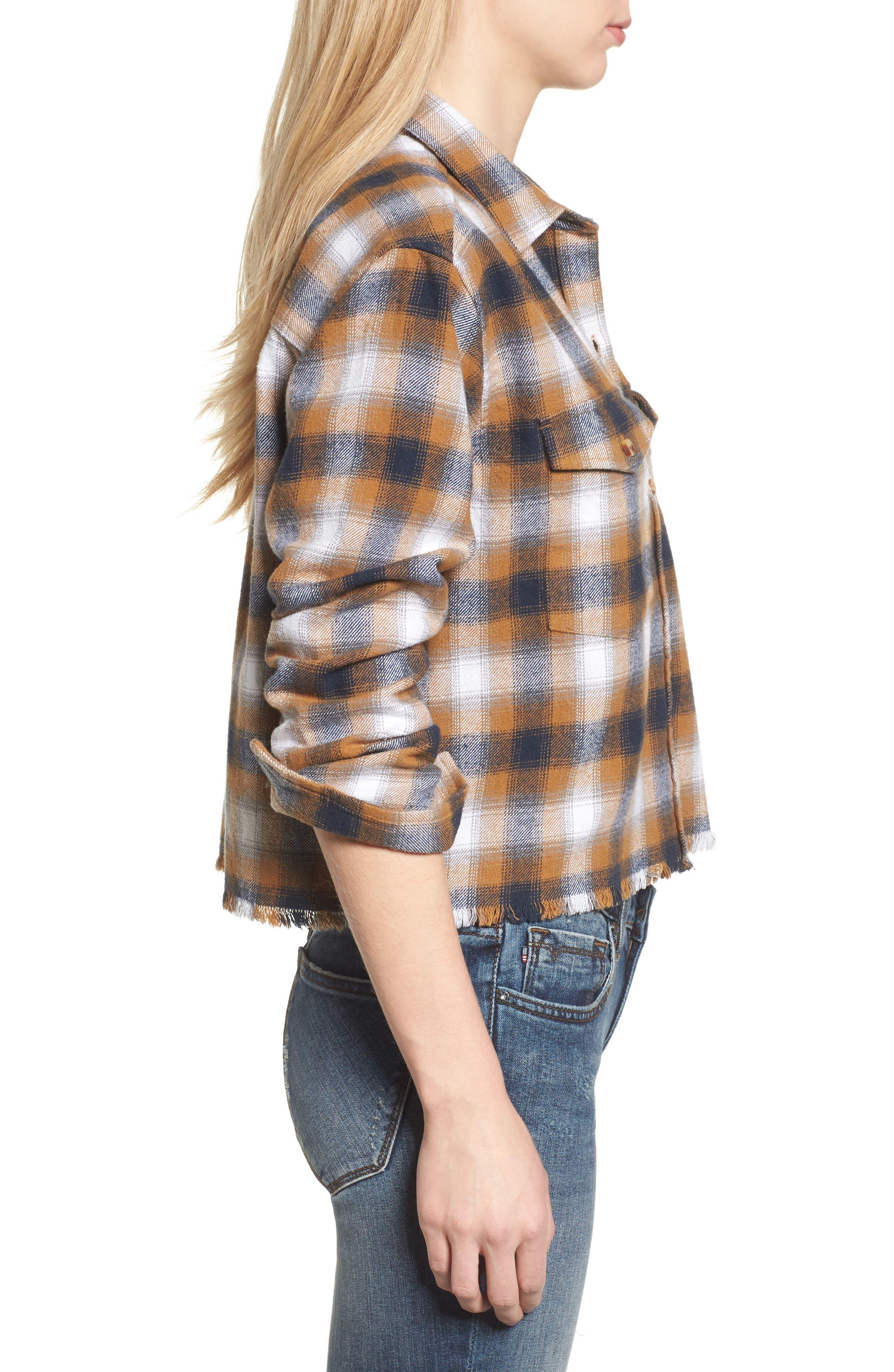 Alternate Image 3  - Obey Cassius Crop Flannel Shirt
