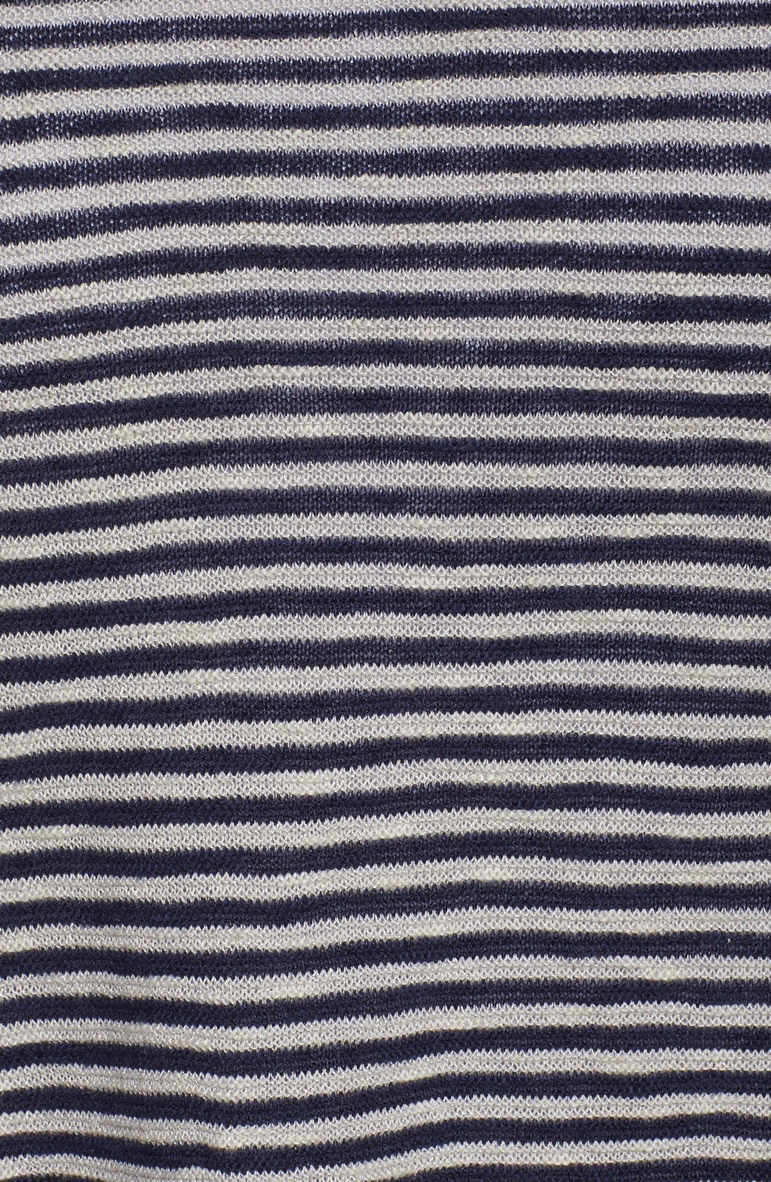 Alternate Image 5  - Eileen Fisher Stripe Organic Linen & Cotton Sweater (Plus Size)
