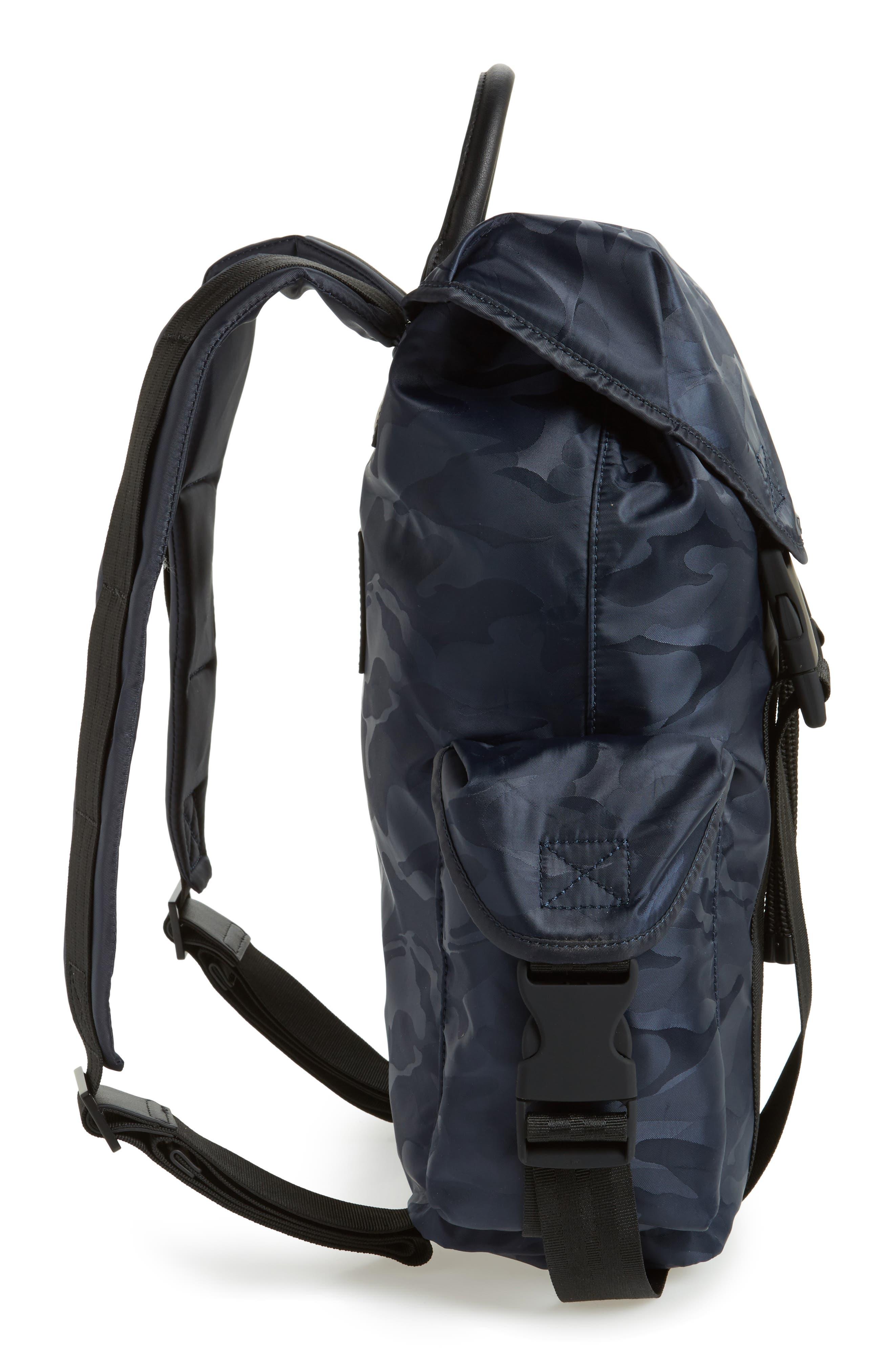 Jordyn Nylon Backpack,                             Alternate thumbnail 5, color,                             Navy Camo