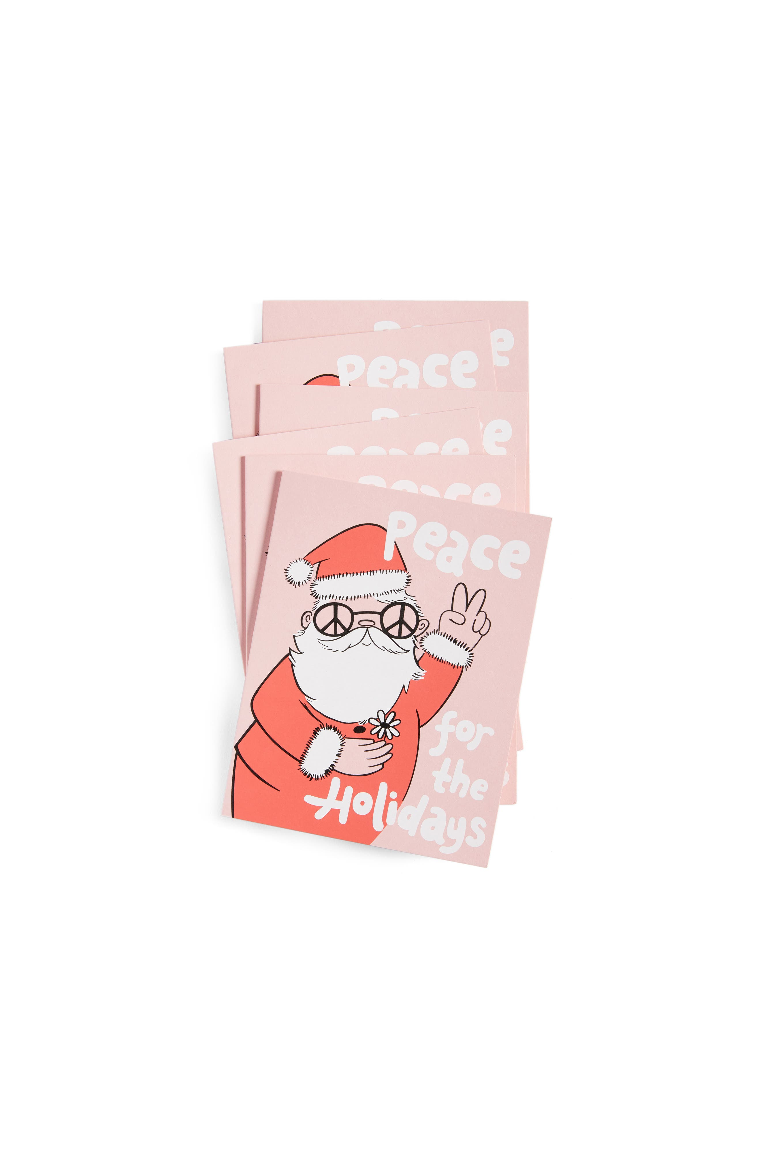 The Good Twin Peace Santa Set of 6 Greeting Cards