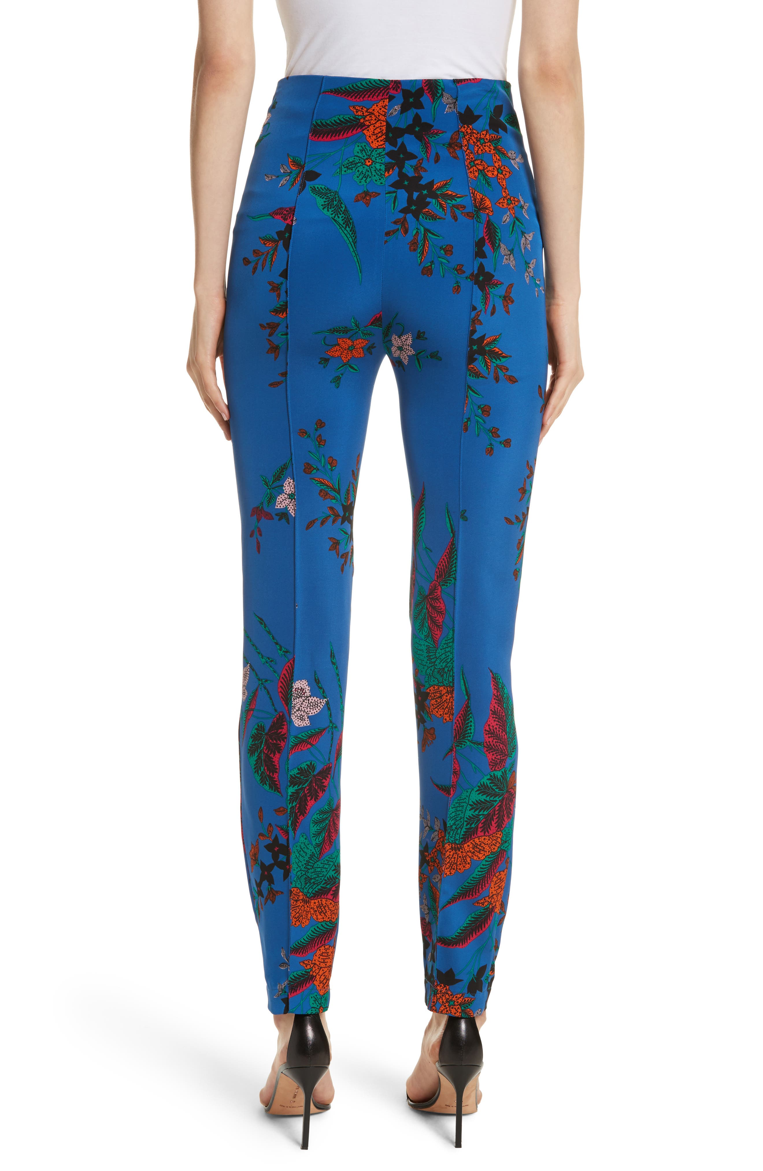 High Waist Print Skinny Pants,                             Alternate thumbnail 2, color,                             Camden Cove