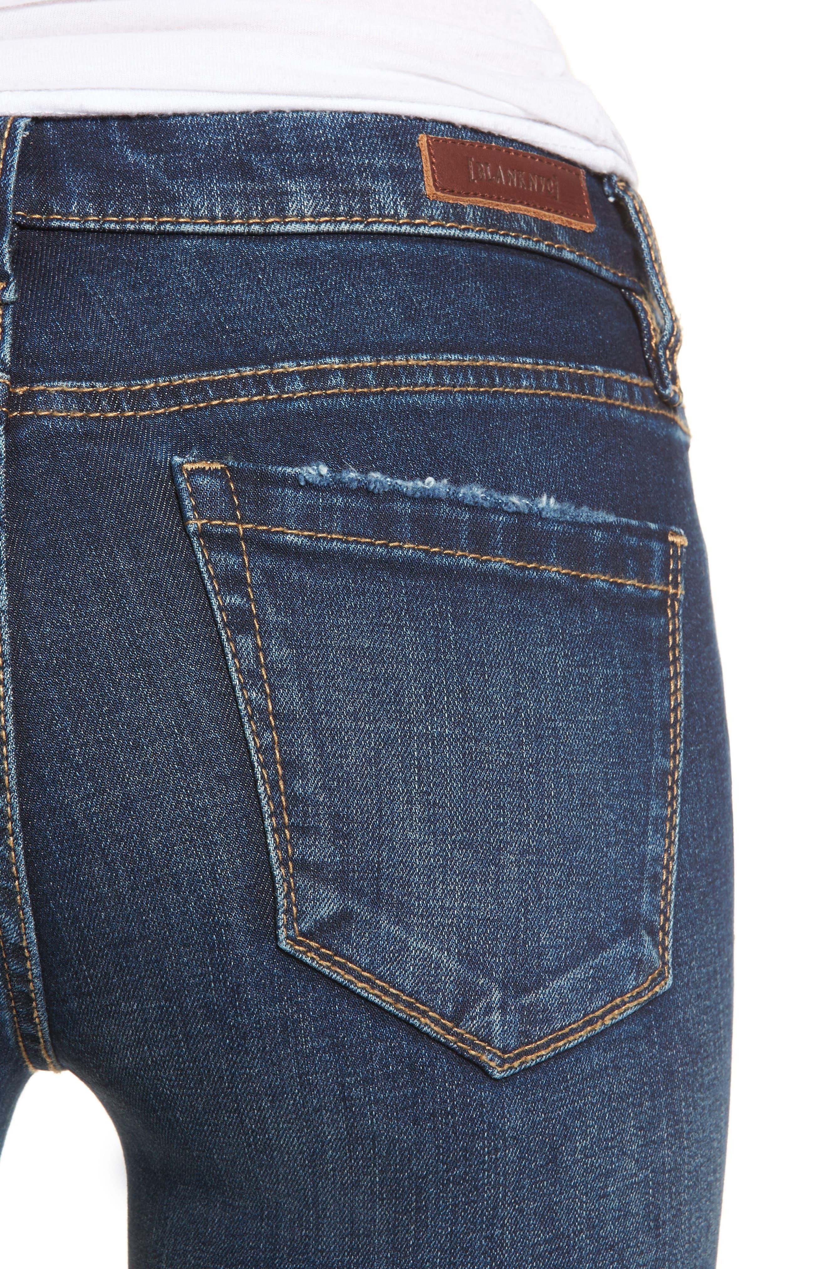 Release Hem Skinny Jeans,                             Alternate thumbnail 4, color,                             Morning Makeout