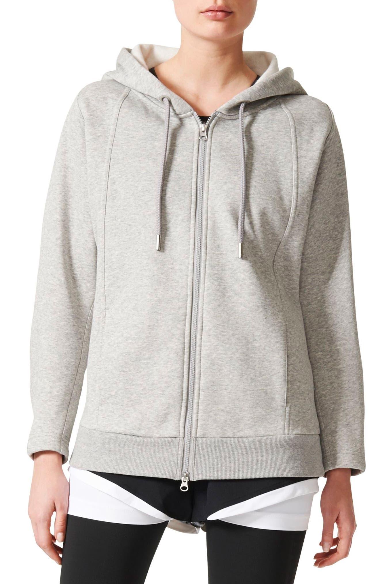 Essentials Hoodie,                         Main,                         color, Medium Grey Heather